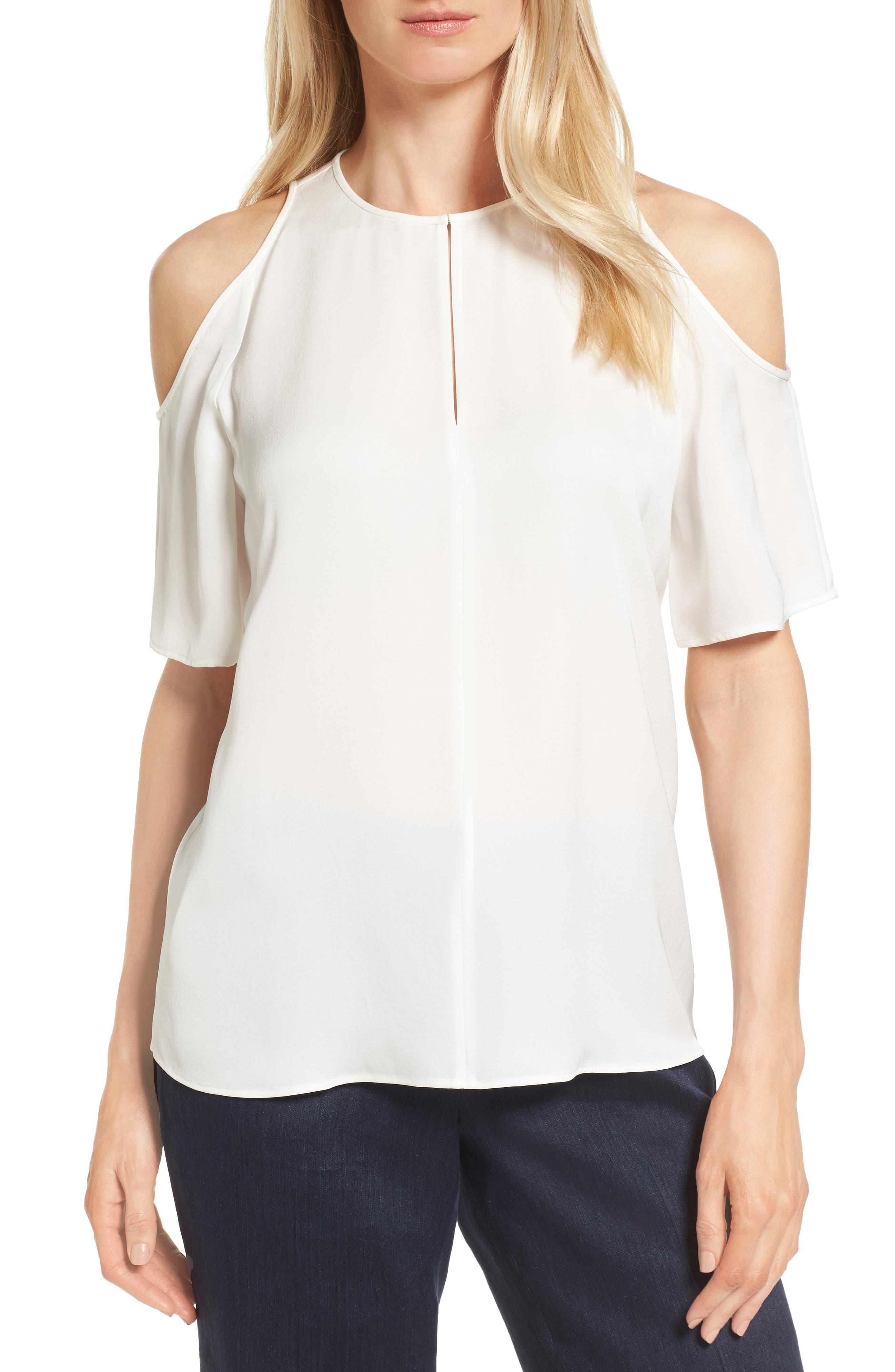 Classiques Entier® Cold Shoulder Silk Top