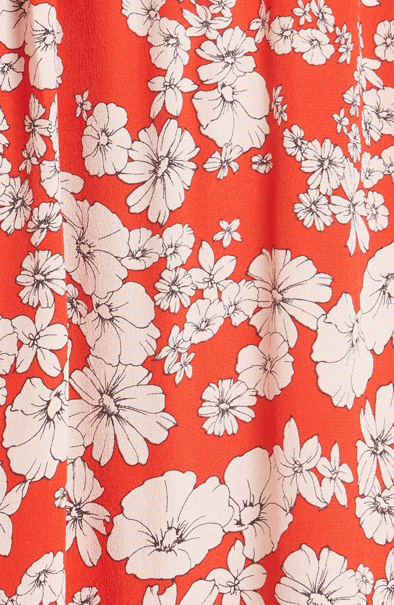 Alternate Image 5  - Rebecca Taylor Cherry Blossom Silk Off the Shoulder Dress