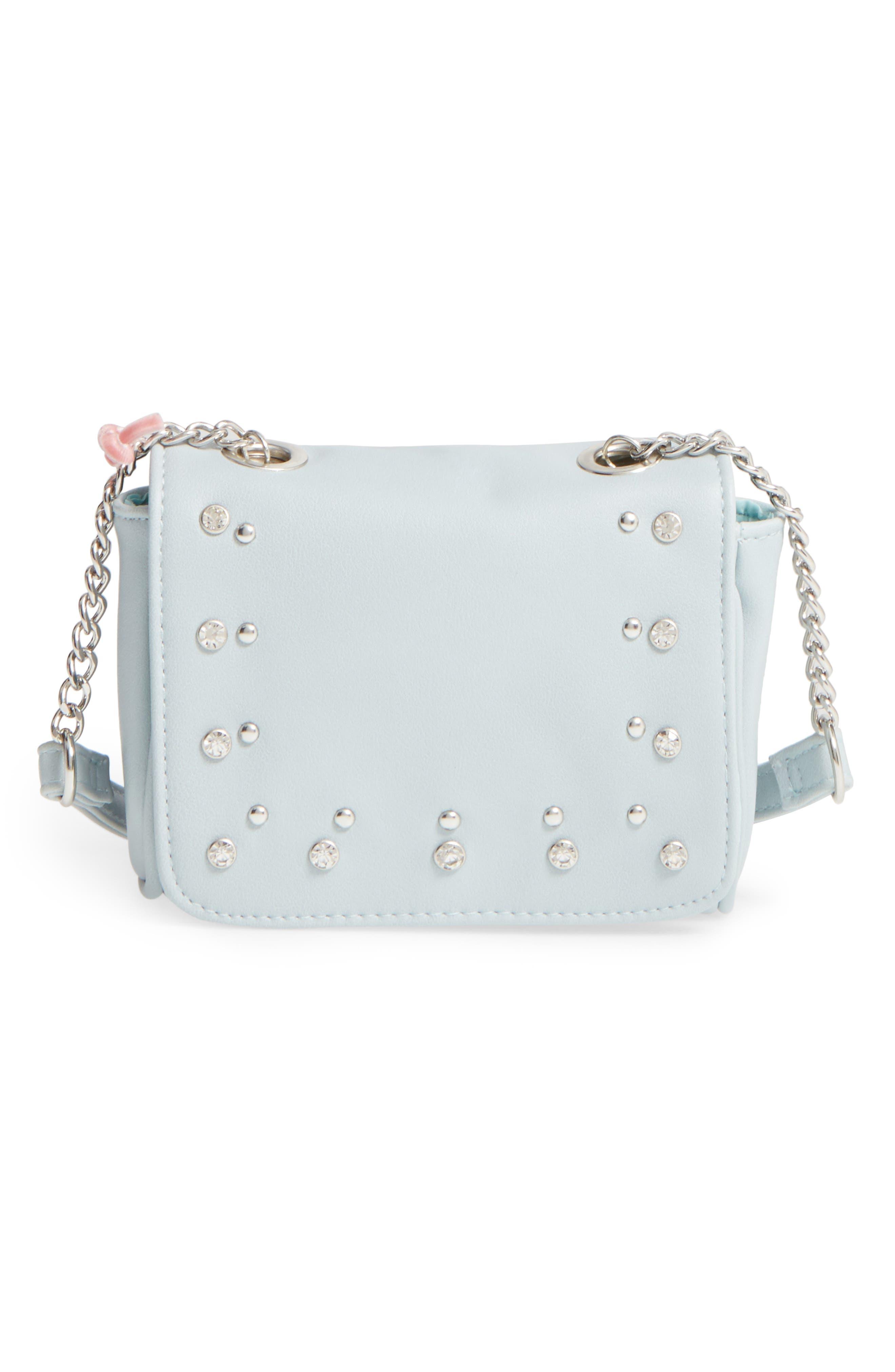 OMG Embellished Faux Leather Crossbody Bag (Girls)