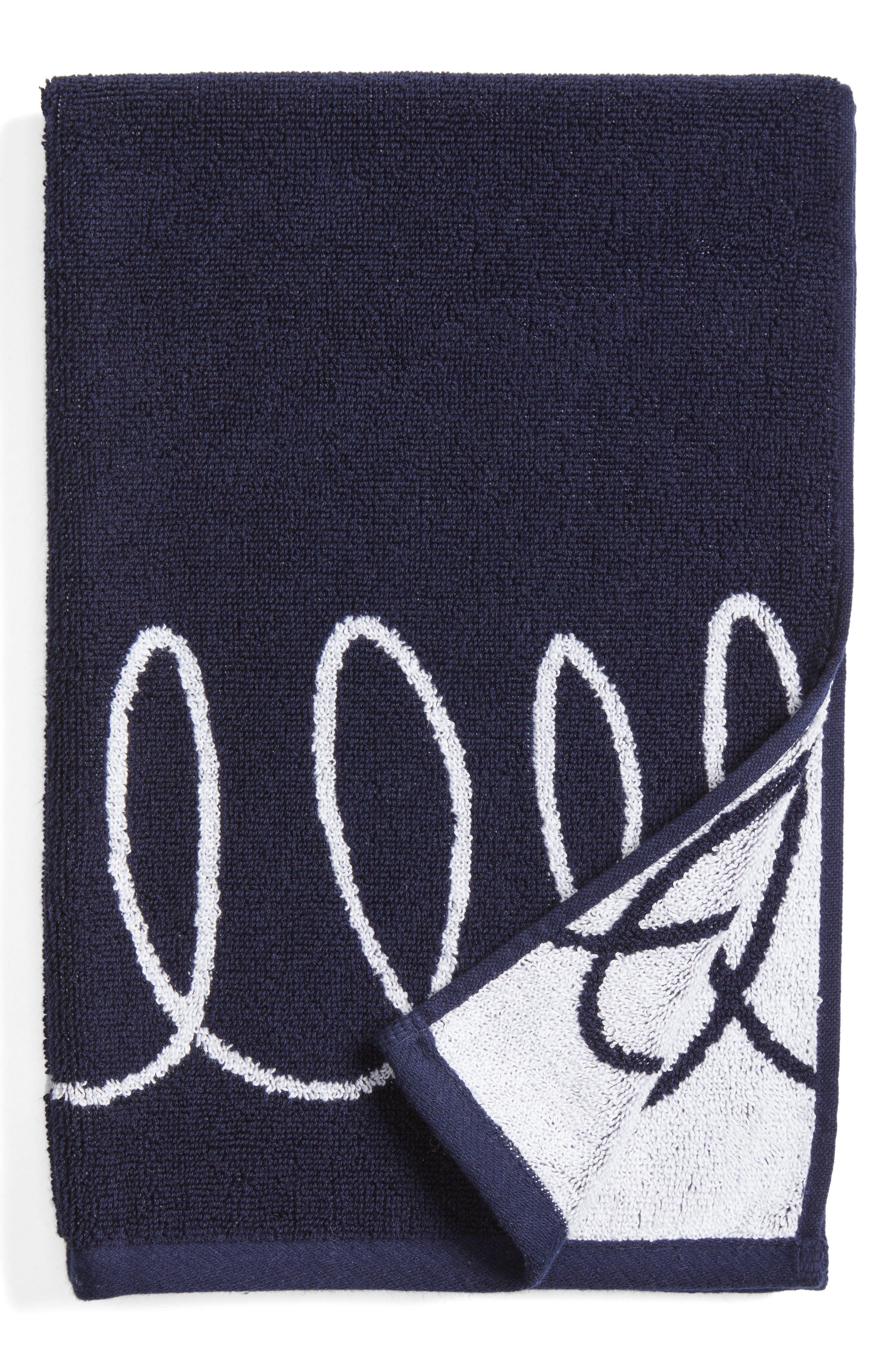 kate spade new york curlicue hand towel
