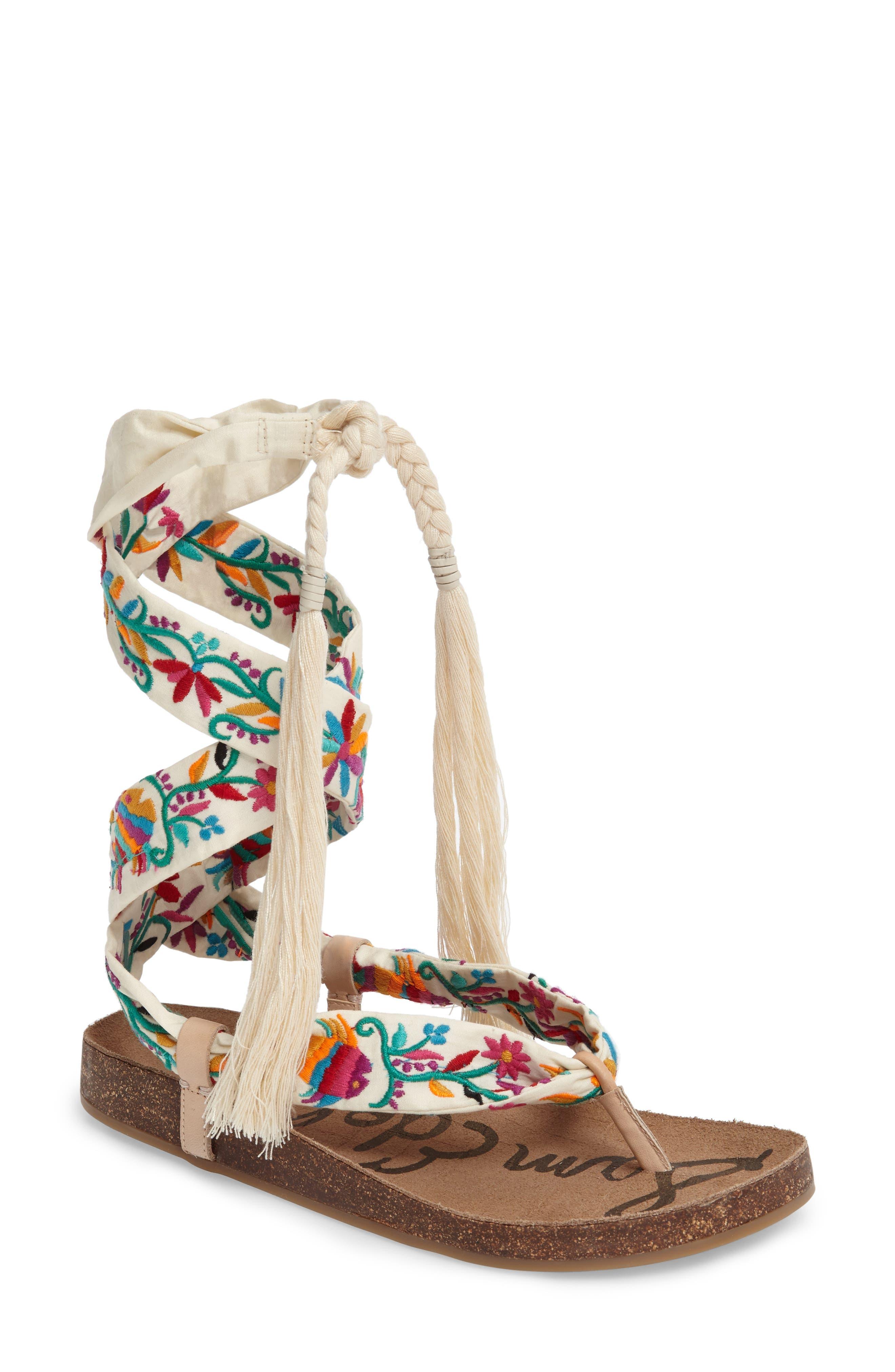 Sam Edelman Kelby Embroidered Sandal (Women)