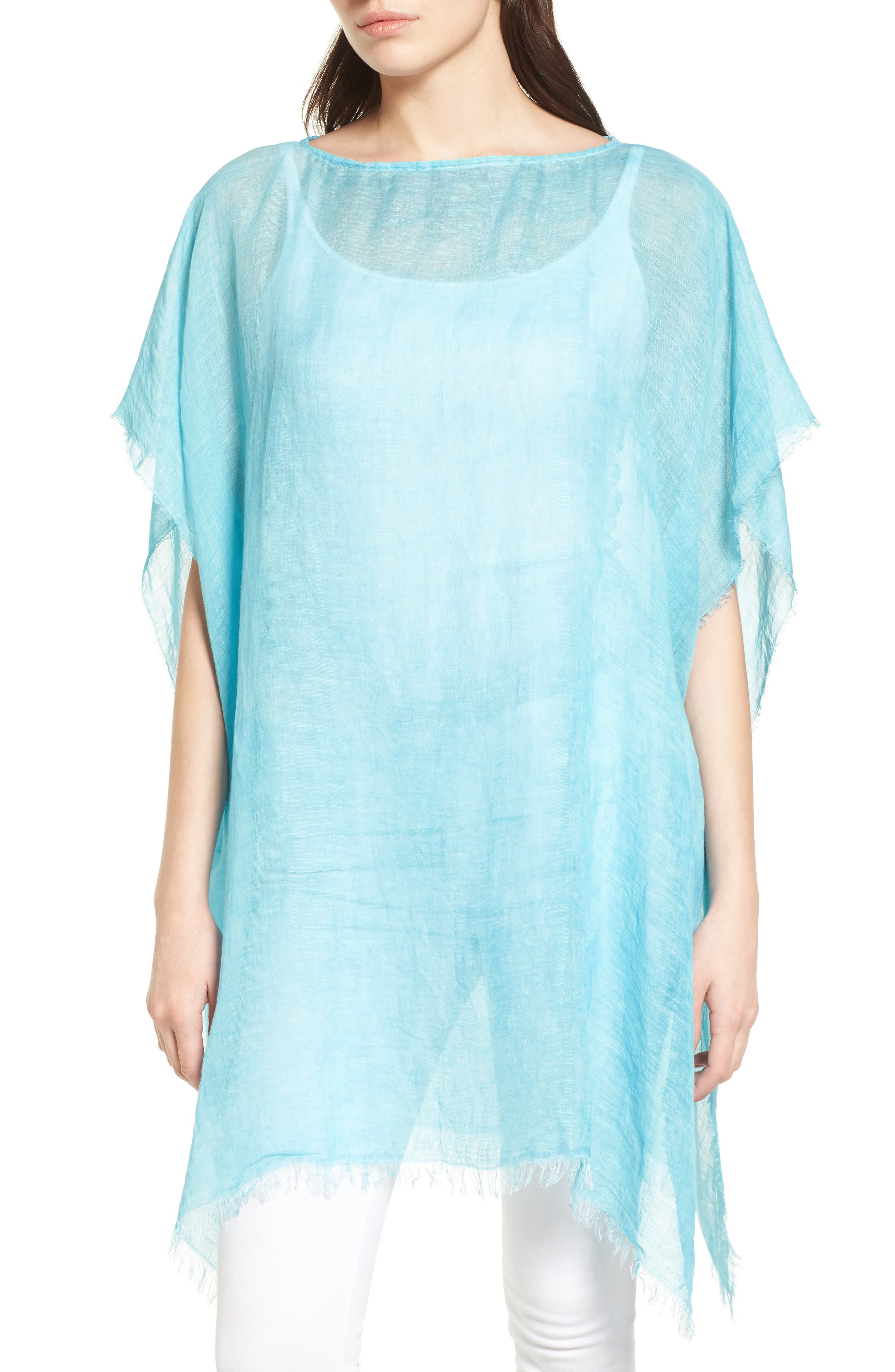 Alternate Image 1 Selected - Eileen Fisher Sheer Poncho