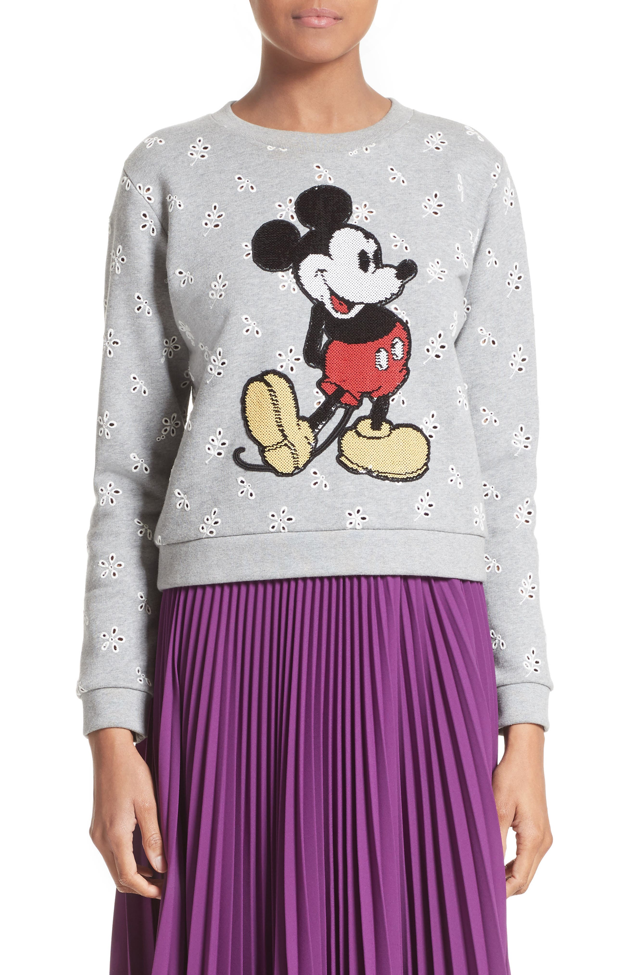 Main Image - MARC JACOBS Embellished Mickey Shrunken Sweatshirt