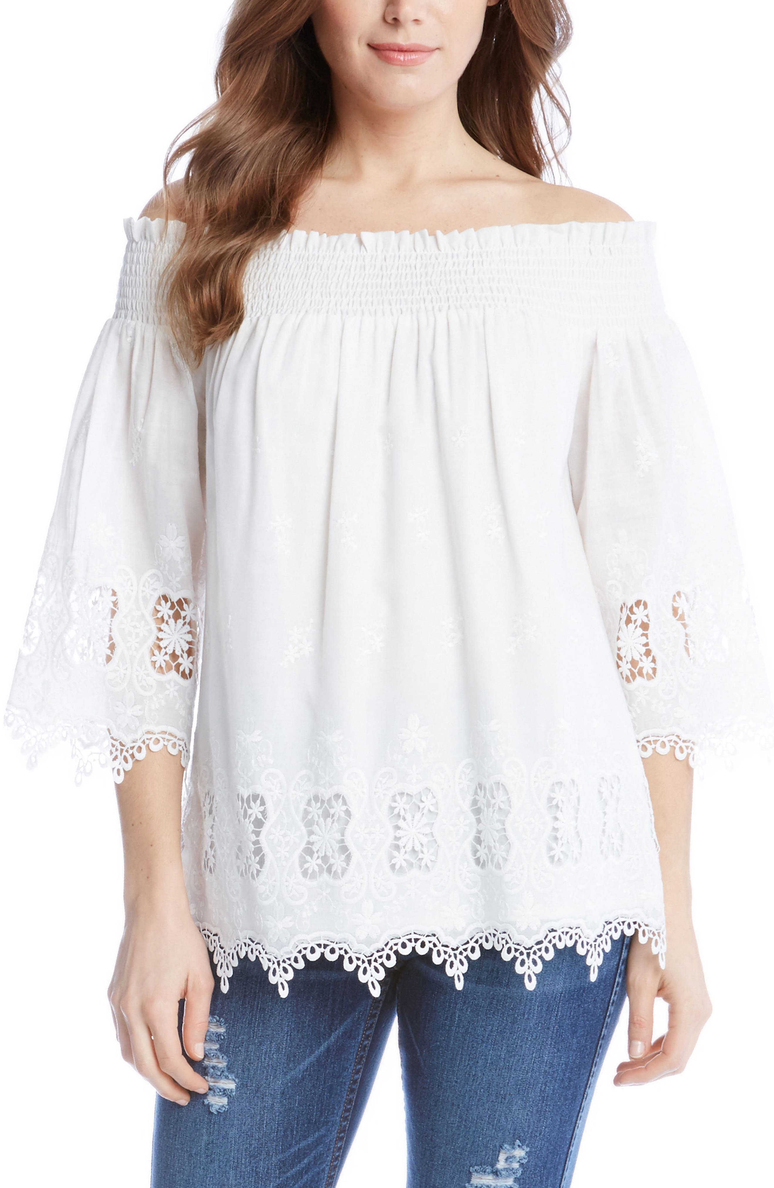 Karen Kane Off the Shoulder Lace Top