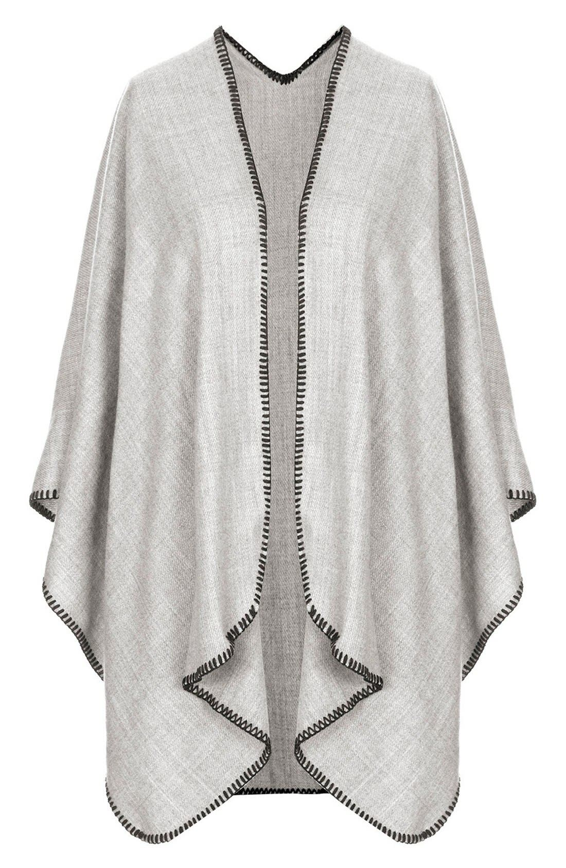 Main Image - Topshop Blanket Stitch Cape