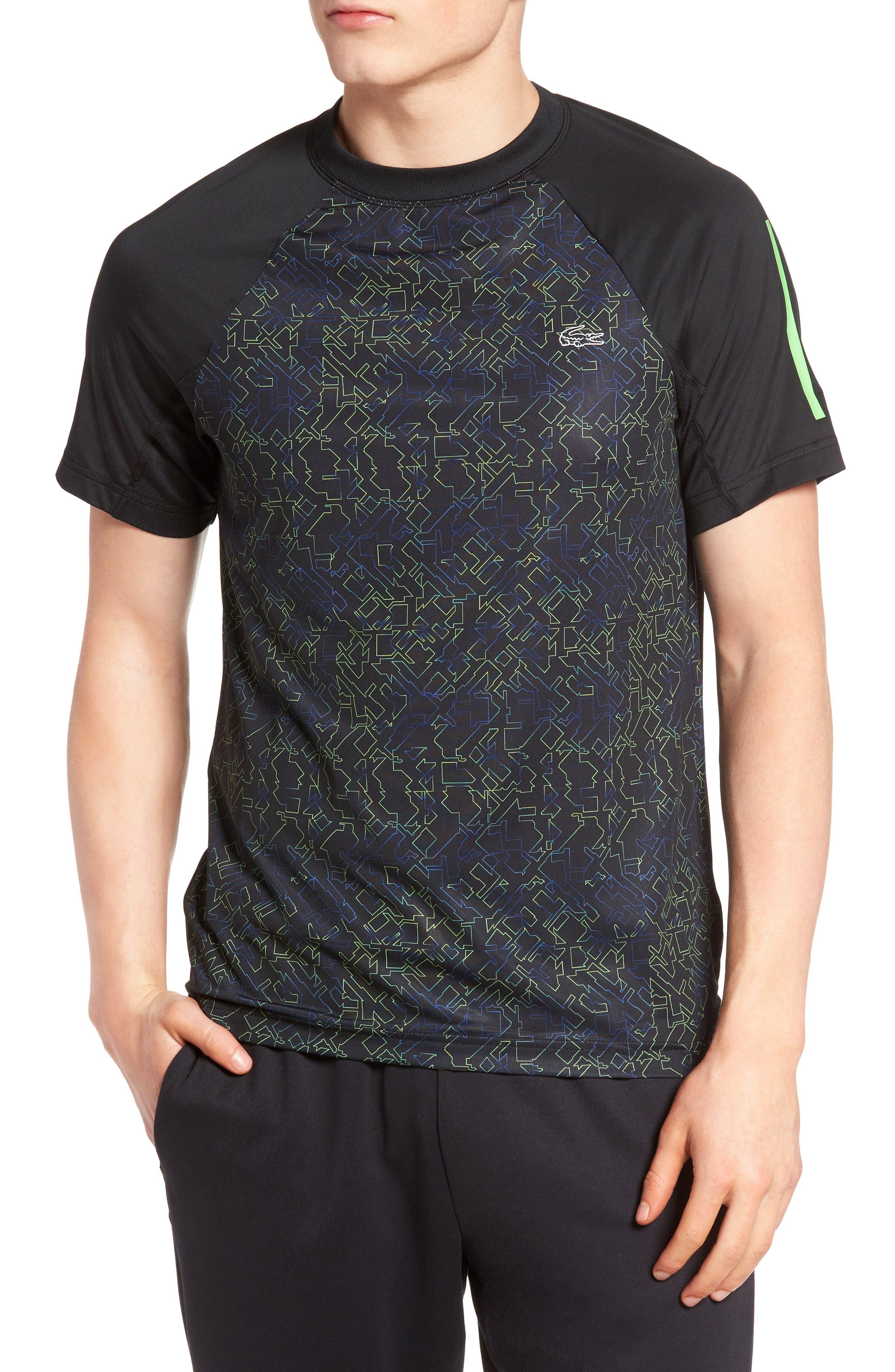 Lacoste SPORT Performance Print Jersey T-Shirt