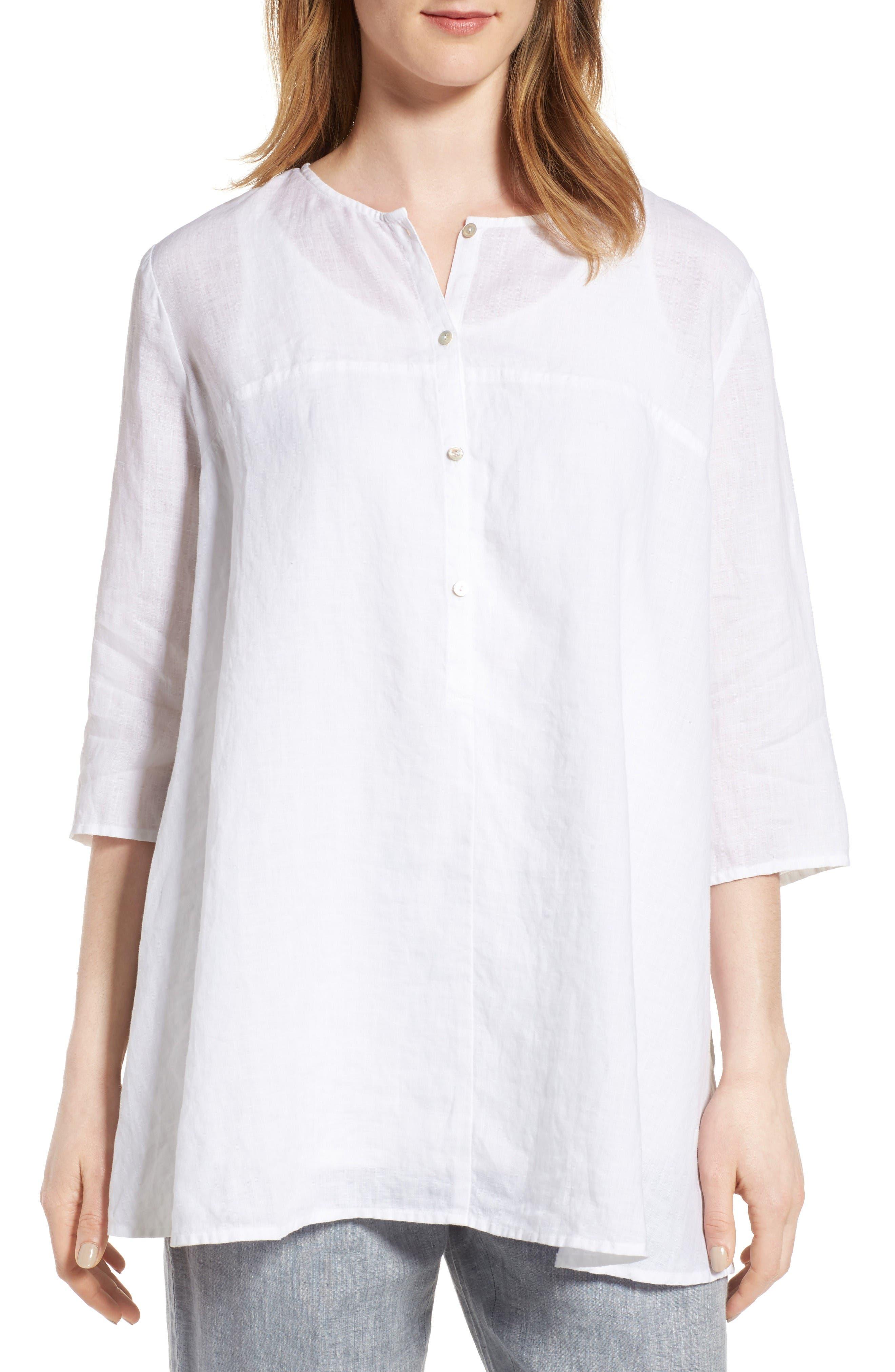 Eileen Fisher A-Line Organic Linen Tunic