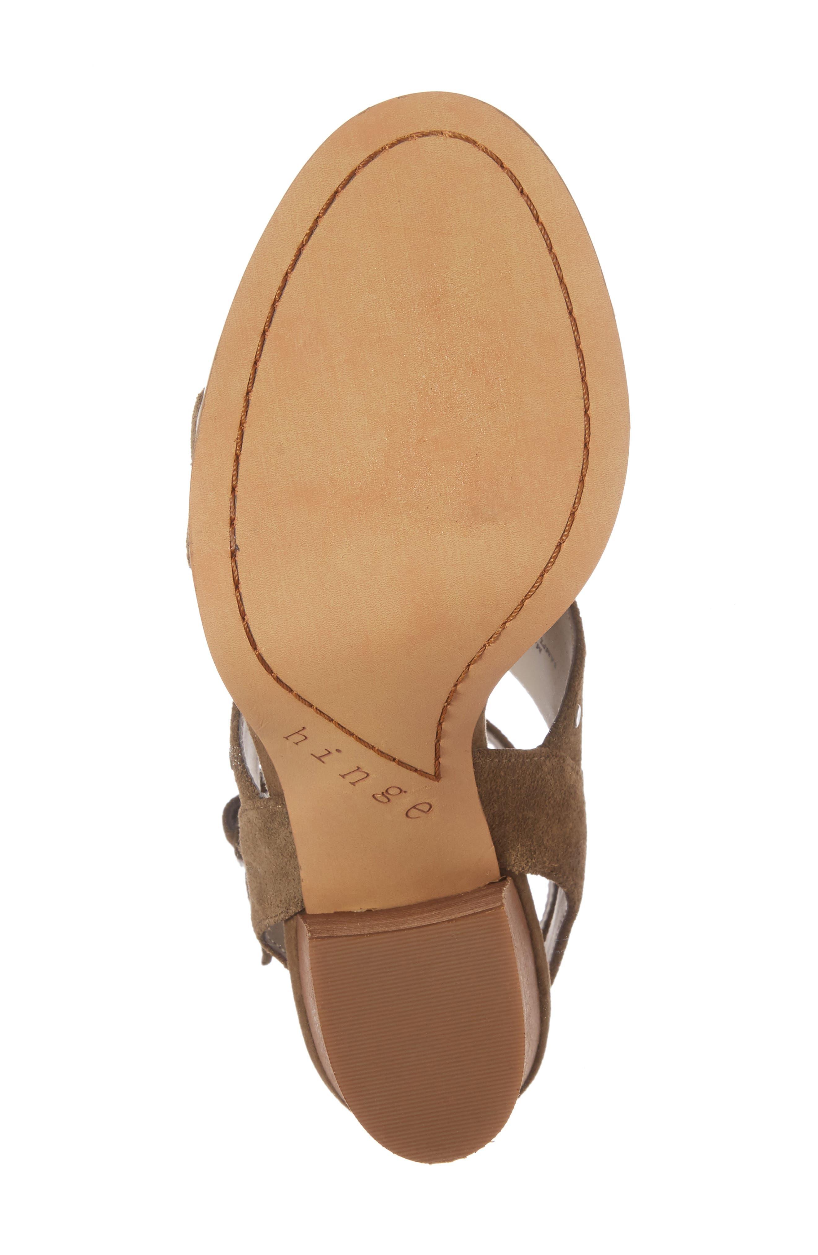 Alternate Image 6  - Hinge Corrine Ankle Strap Sandal (Women)