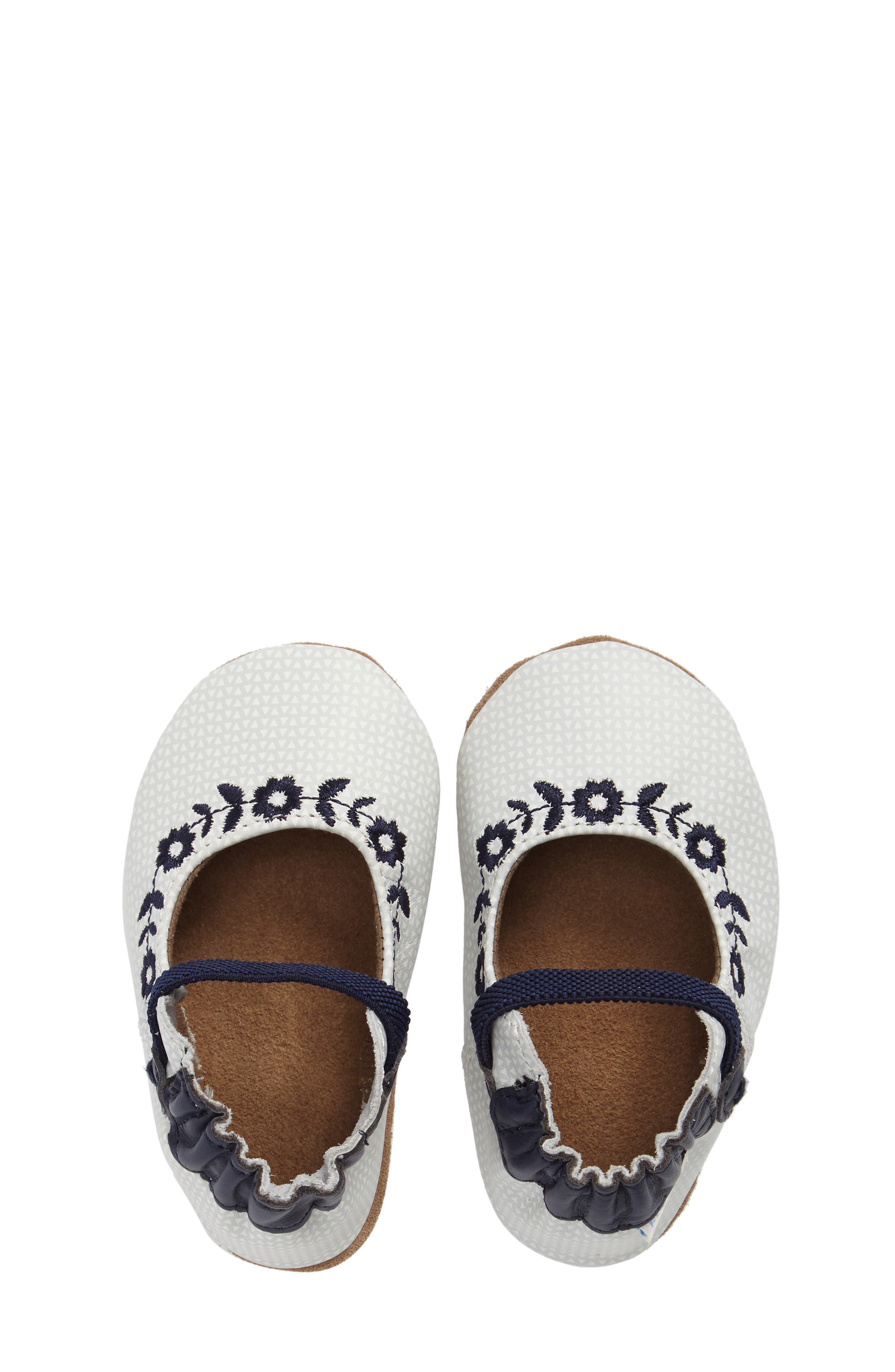 Alternate Image 4  - Robeez® Daisy Lane Embroidered Mary Jane Crib Shoe (Baby & Walker)