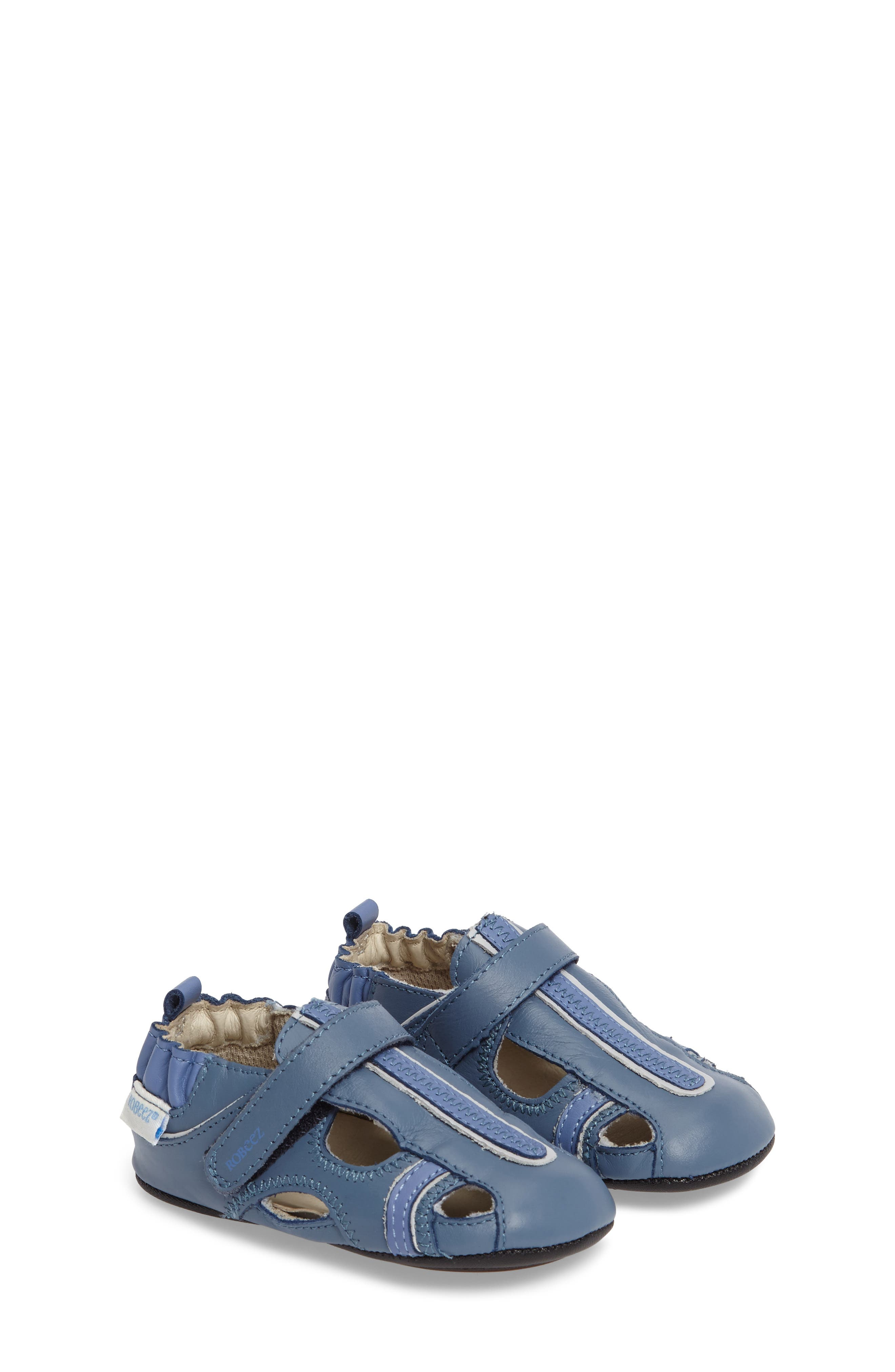 Robeez® 'Rugged Rob' Fisherman Sandal (Baby & Walker)