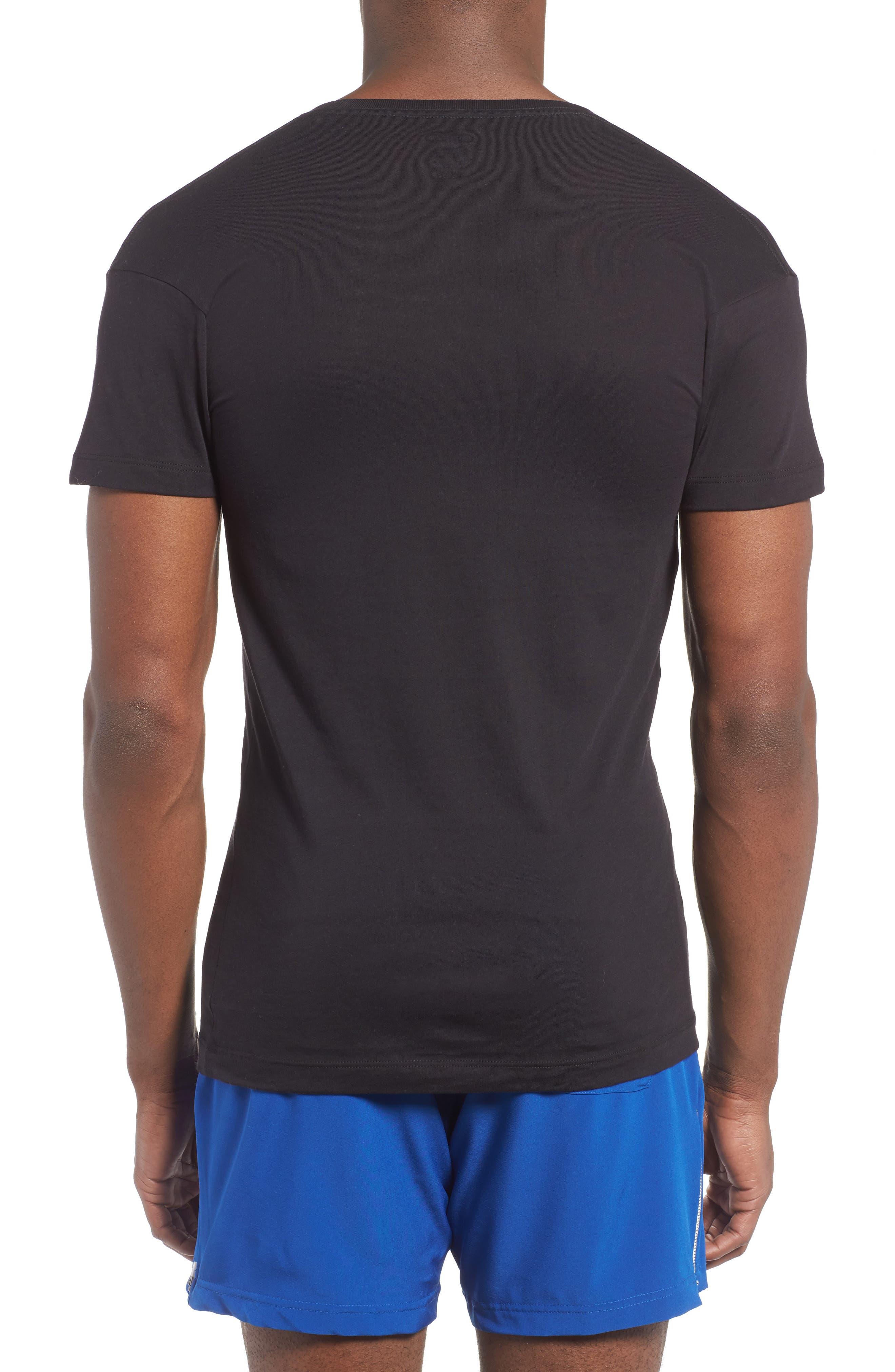 Alternate Image 2  - 2(x)ist Slim Fit Pima Cotton Deep V-Neck T-Shirt