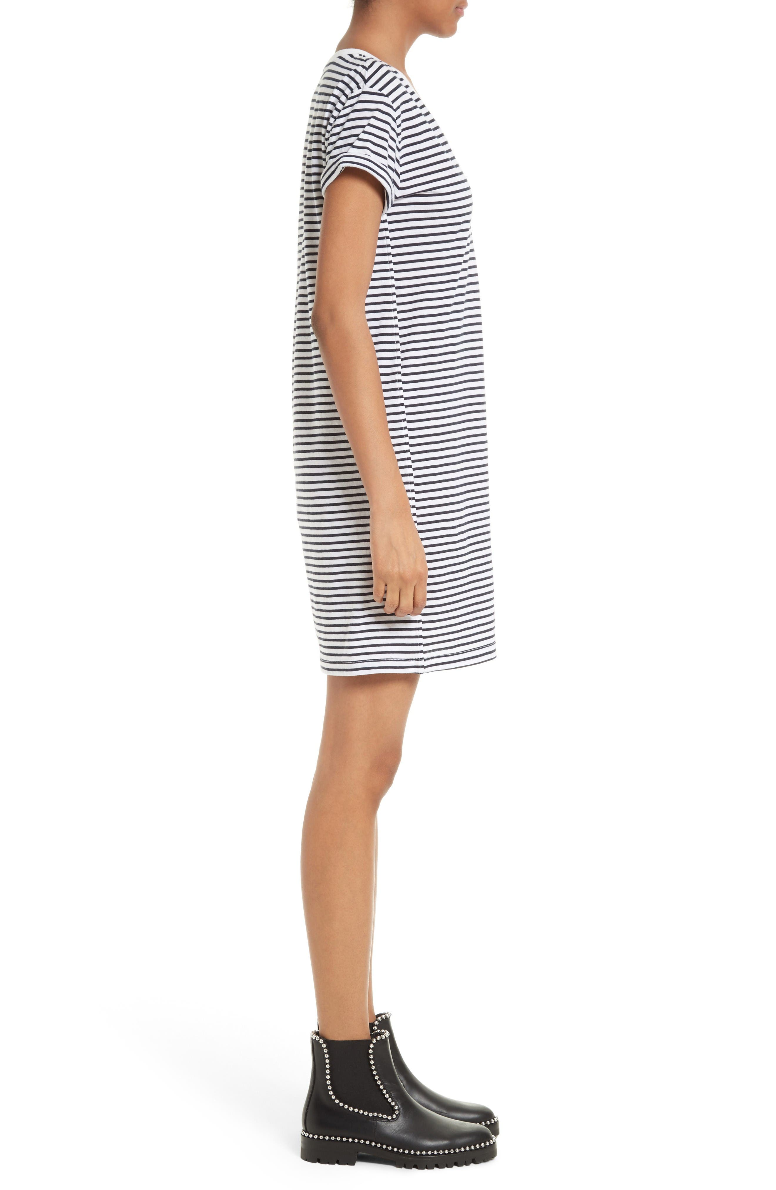 Alternate Image 3  - T by Alexander Wang Stripe T-Shirt Dress