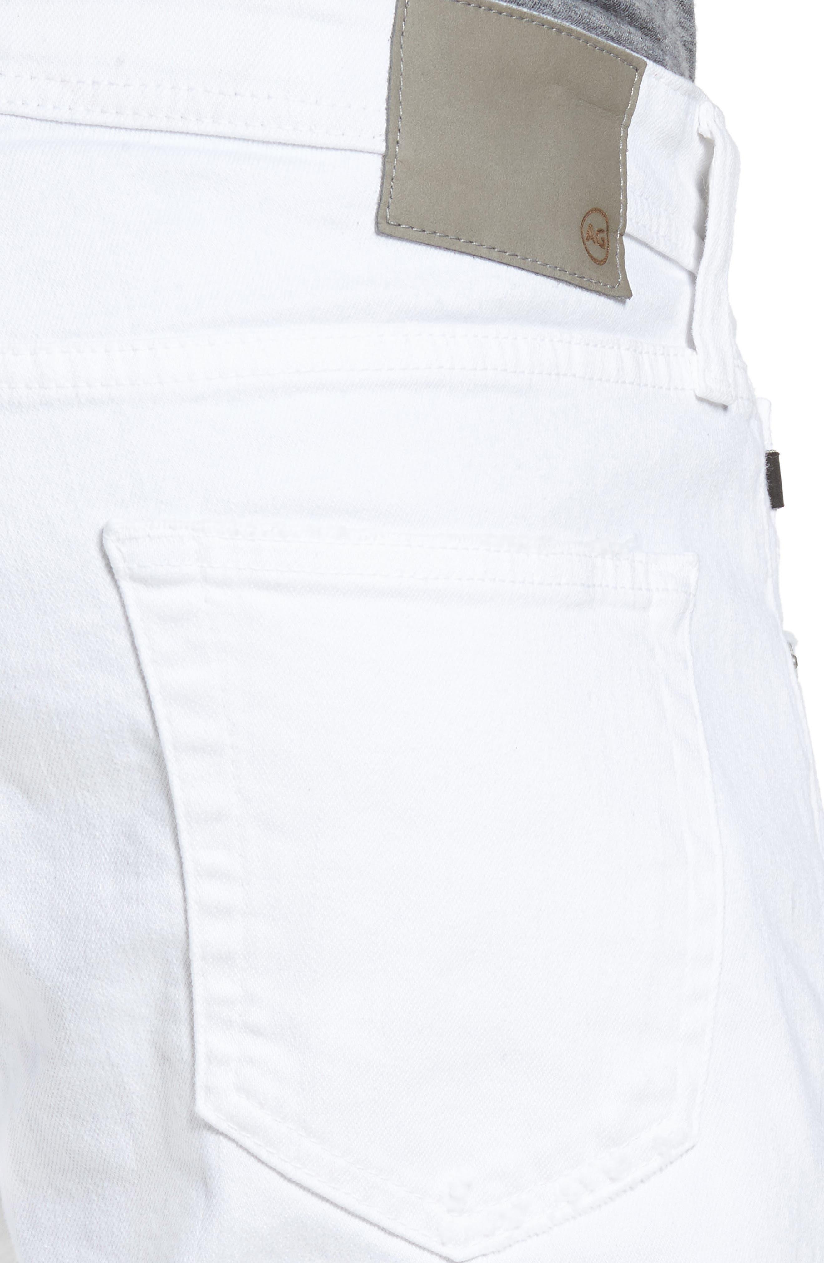 Alternate Image 4  - AG Tellis Slim Fit Jeans (Ragged White)