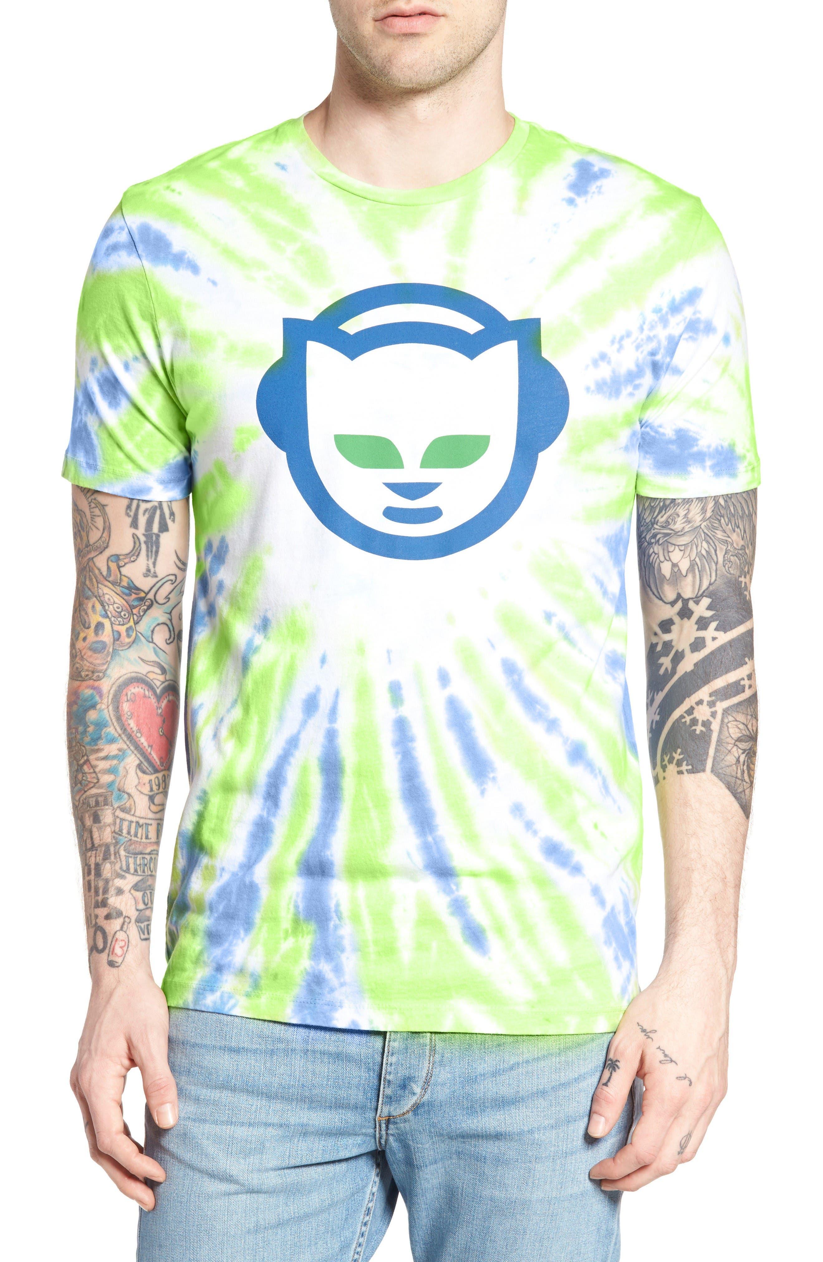Altru Tie Dye Napster Graphic T-Shirt