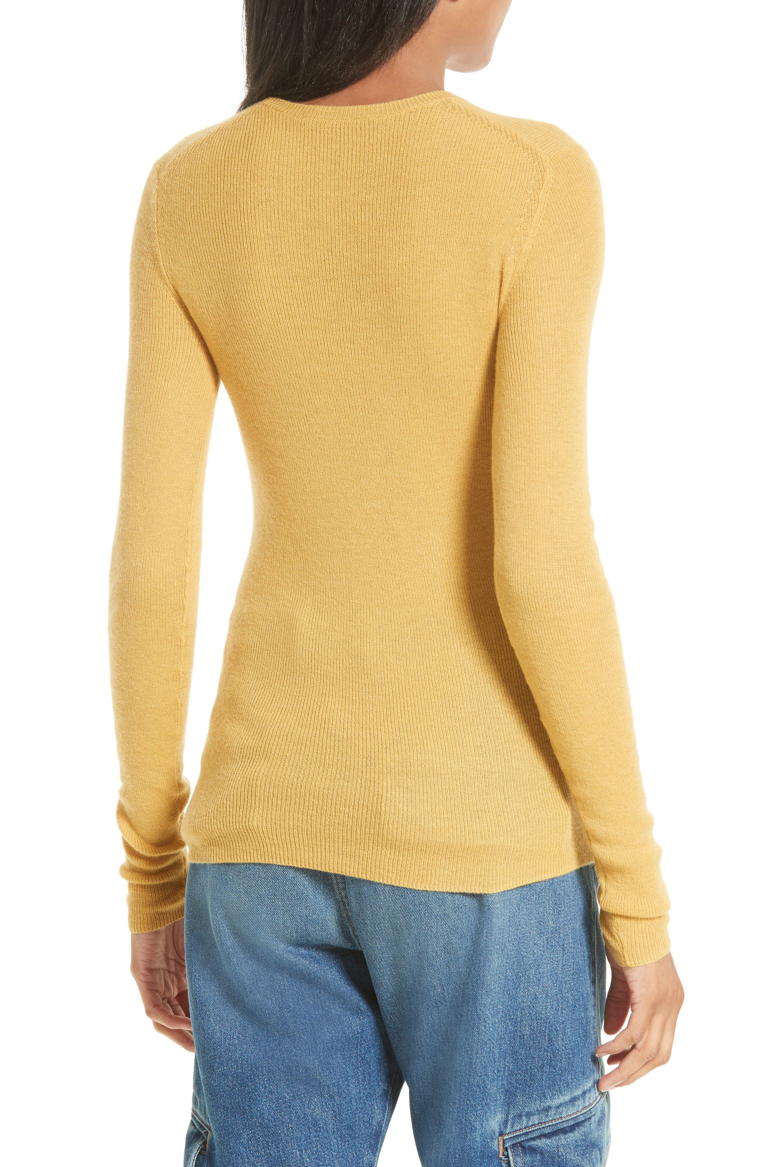 Alternate Image 2  - Vince Ribbed Cashmere Sweater