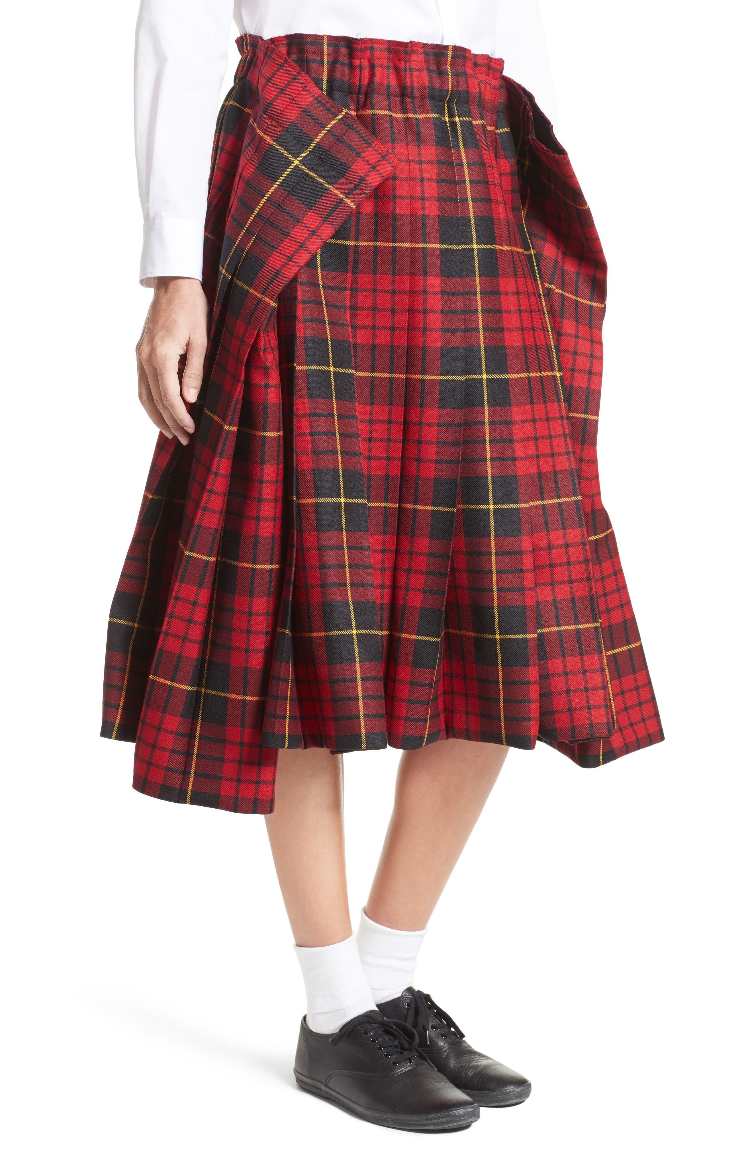 Alternate Image 5  - Comme des Garçons Tartan Check Wool Skirt
