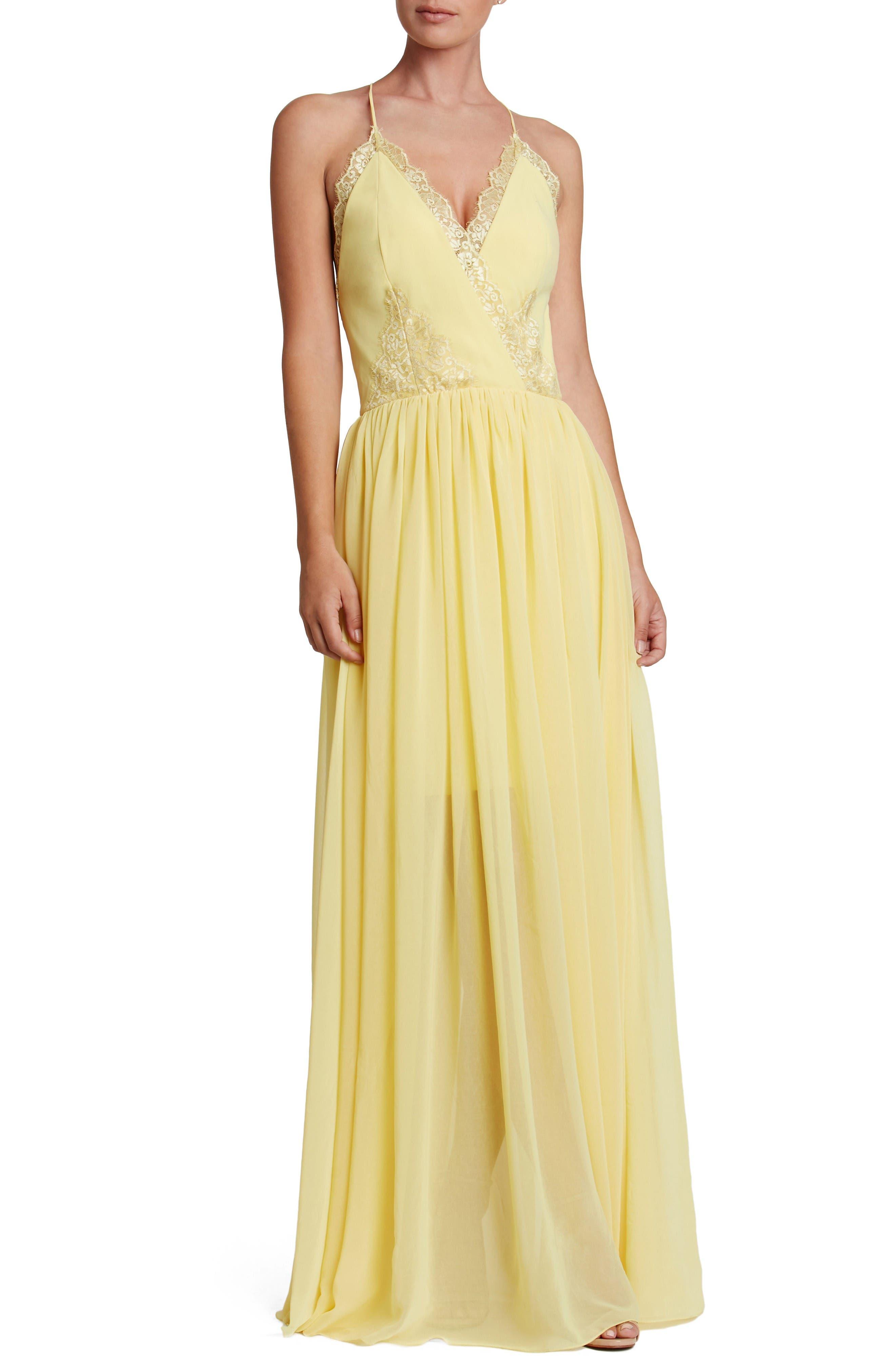 Dress the Population Chloe Lace & Chiffon Gown