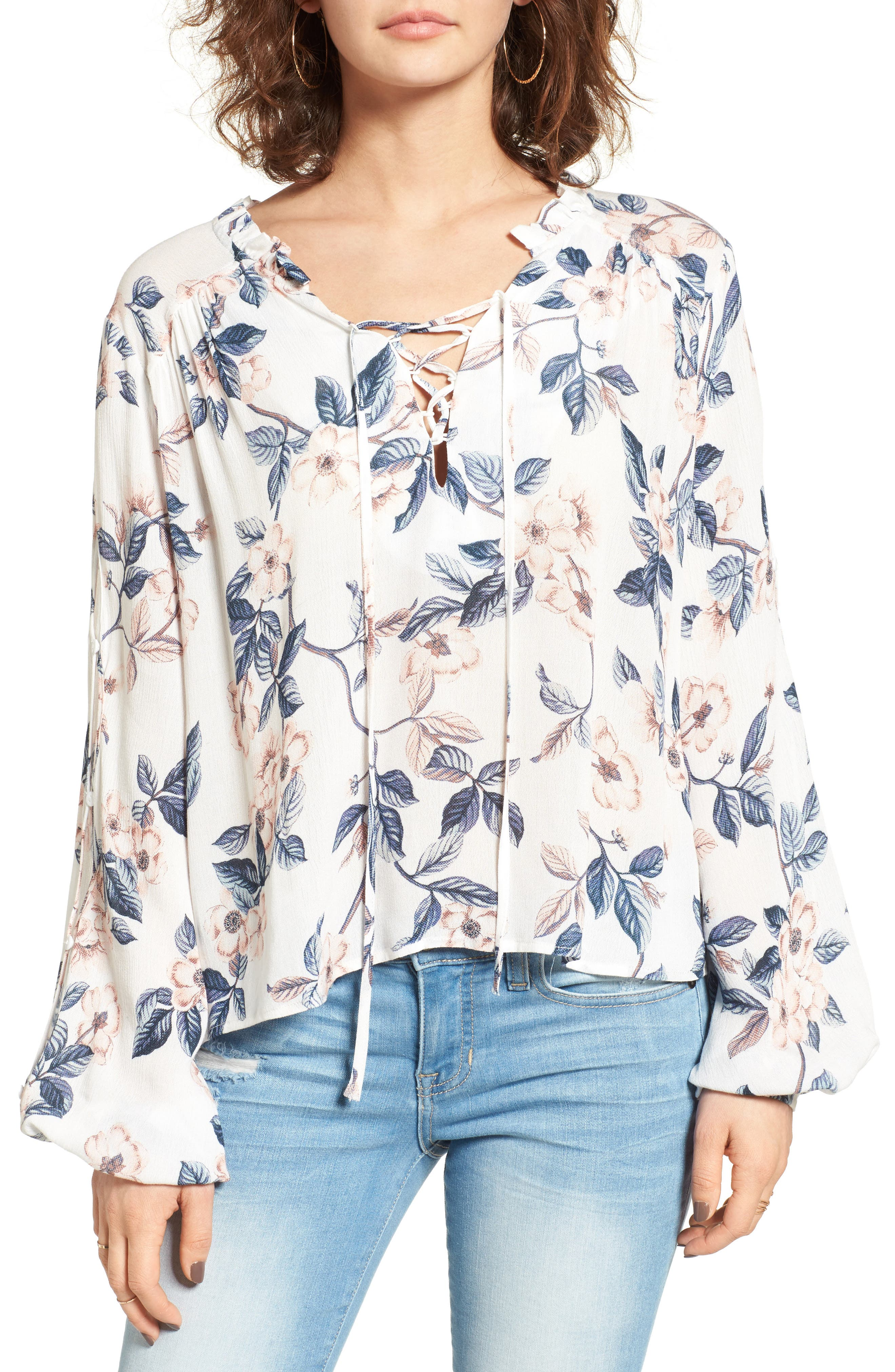 Somedays Lovin Songs of Summer Lace-Up Blouse