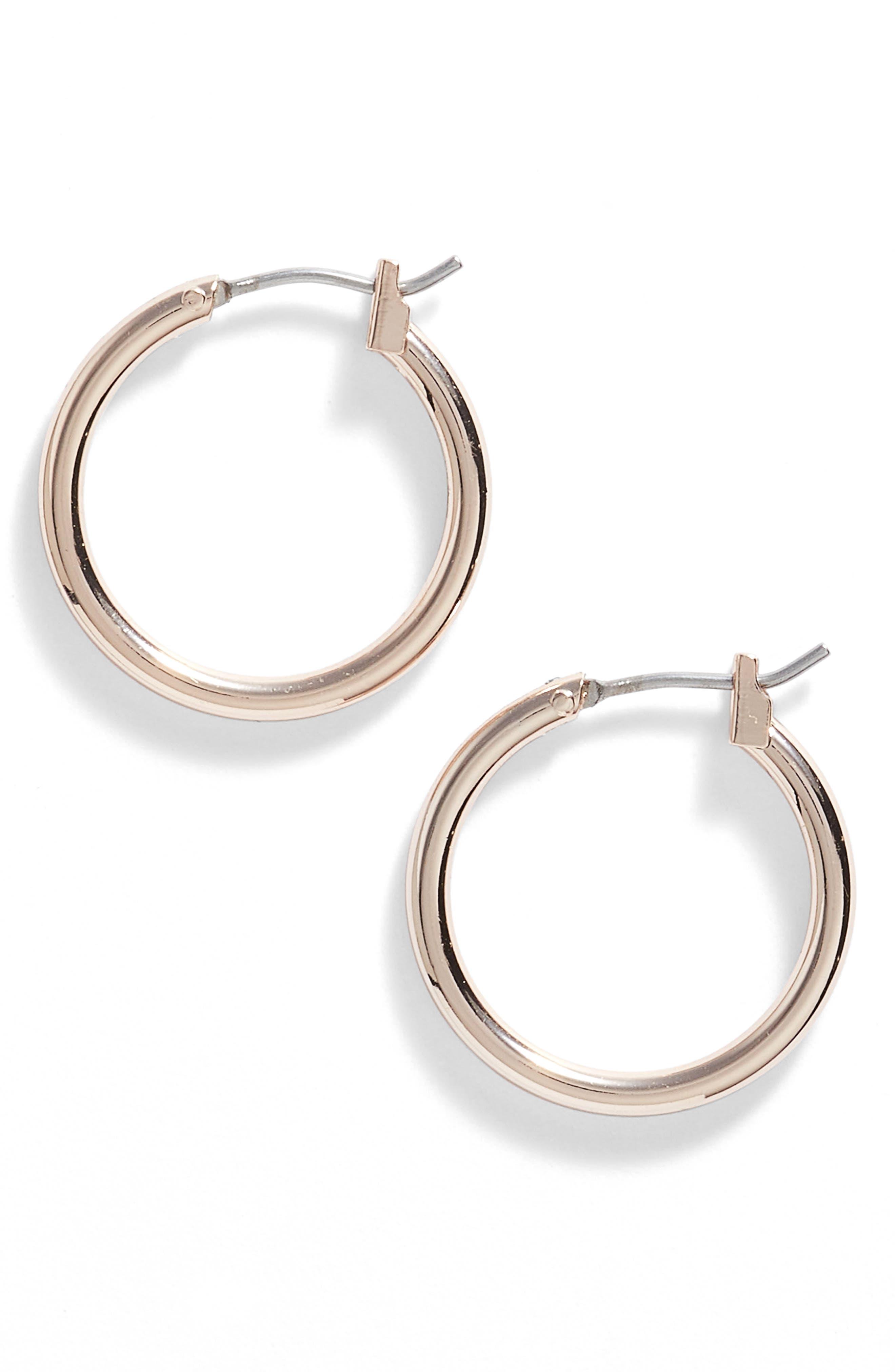 Alternate Image 1 Selected - Nordstrom 'Clean' Small Hoop Earrings