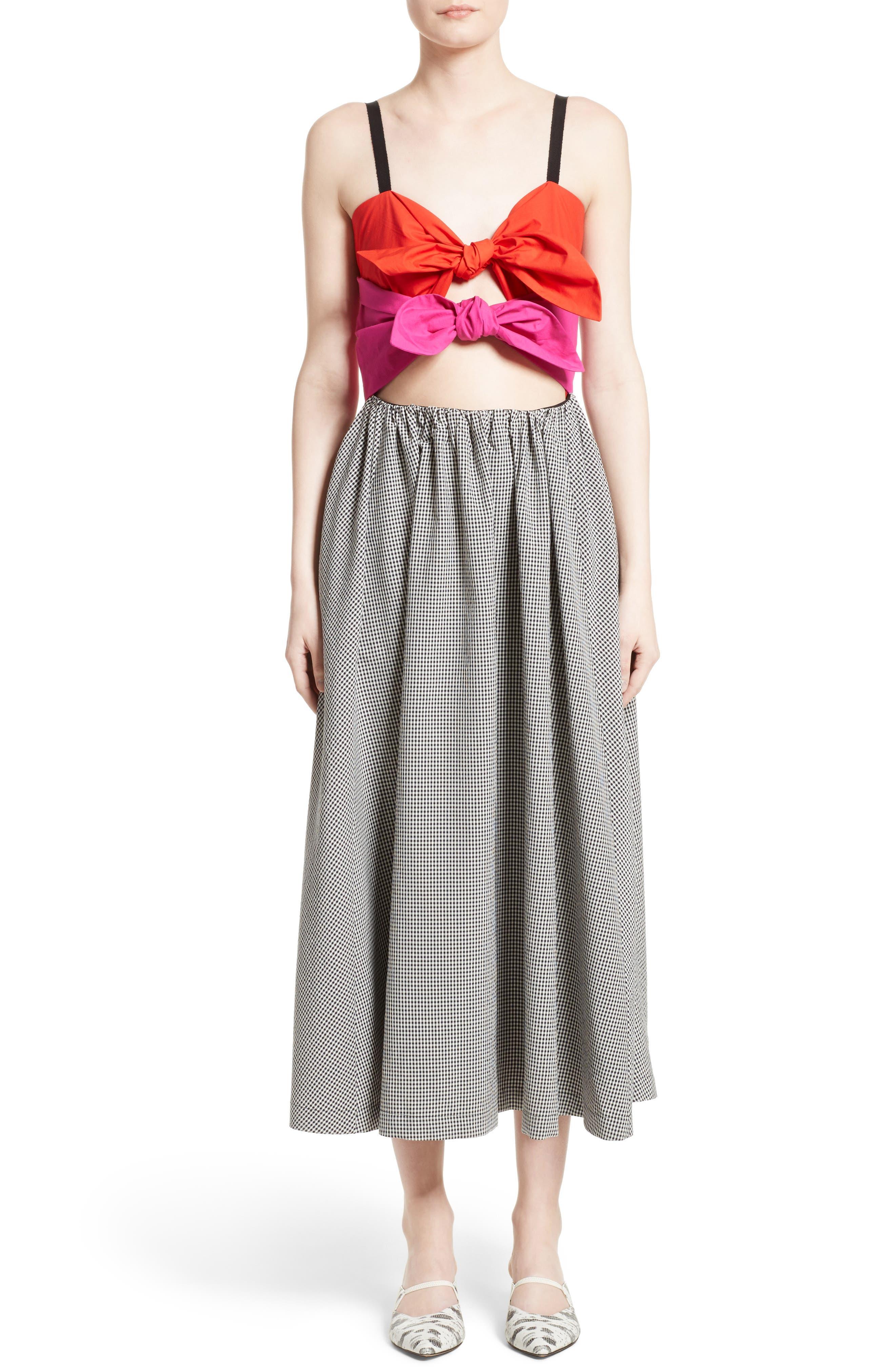 Isa Arfen Double Knot Midi Dress (Nordstrom Exclusive)