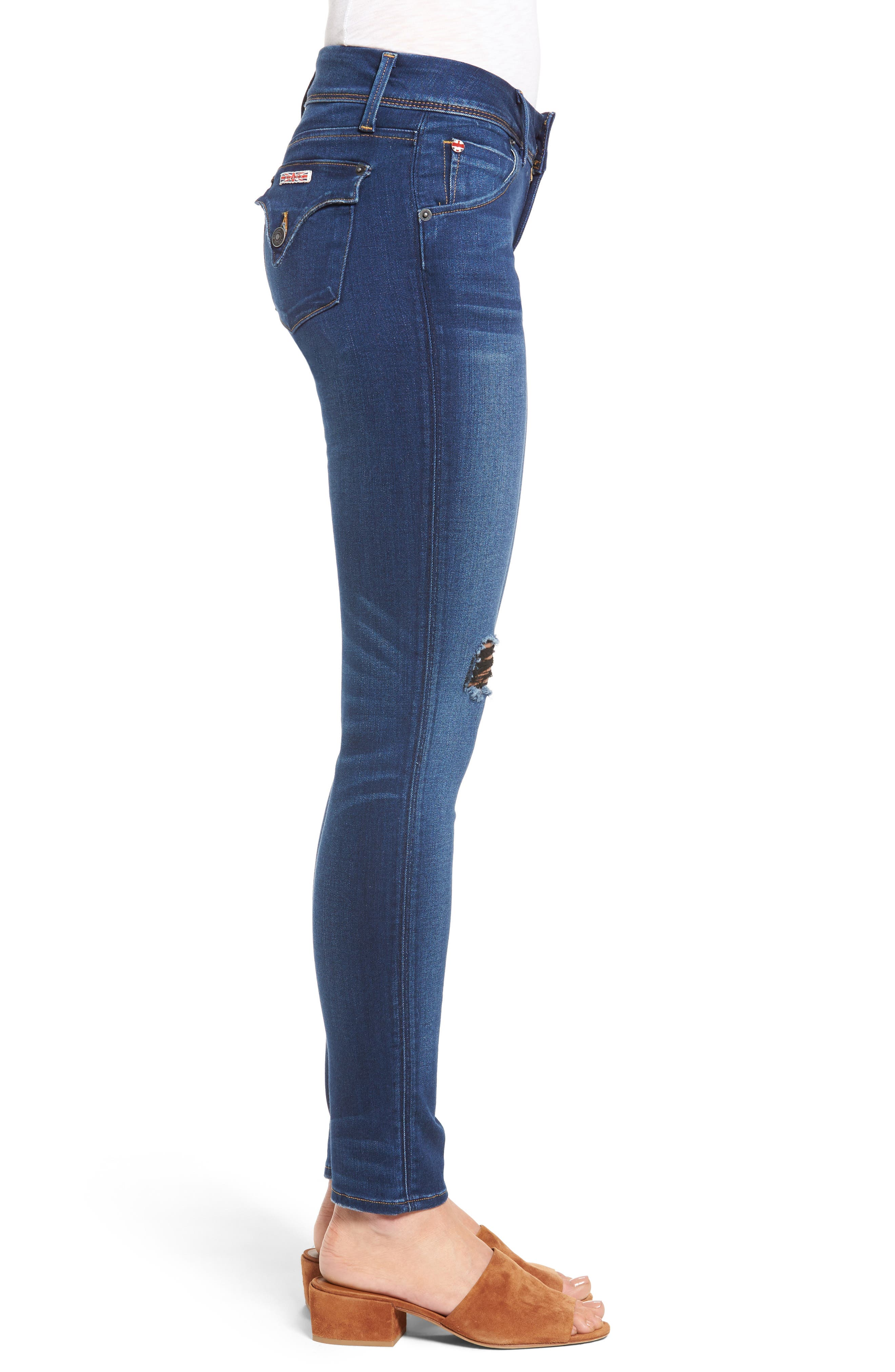Alternate Image 3  - Hudson Jeans 'Elysian - Collin' Mid Rise Skinny Jeans (Authentic)