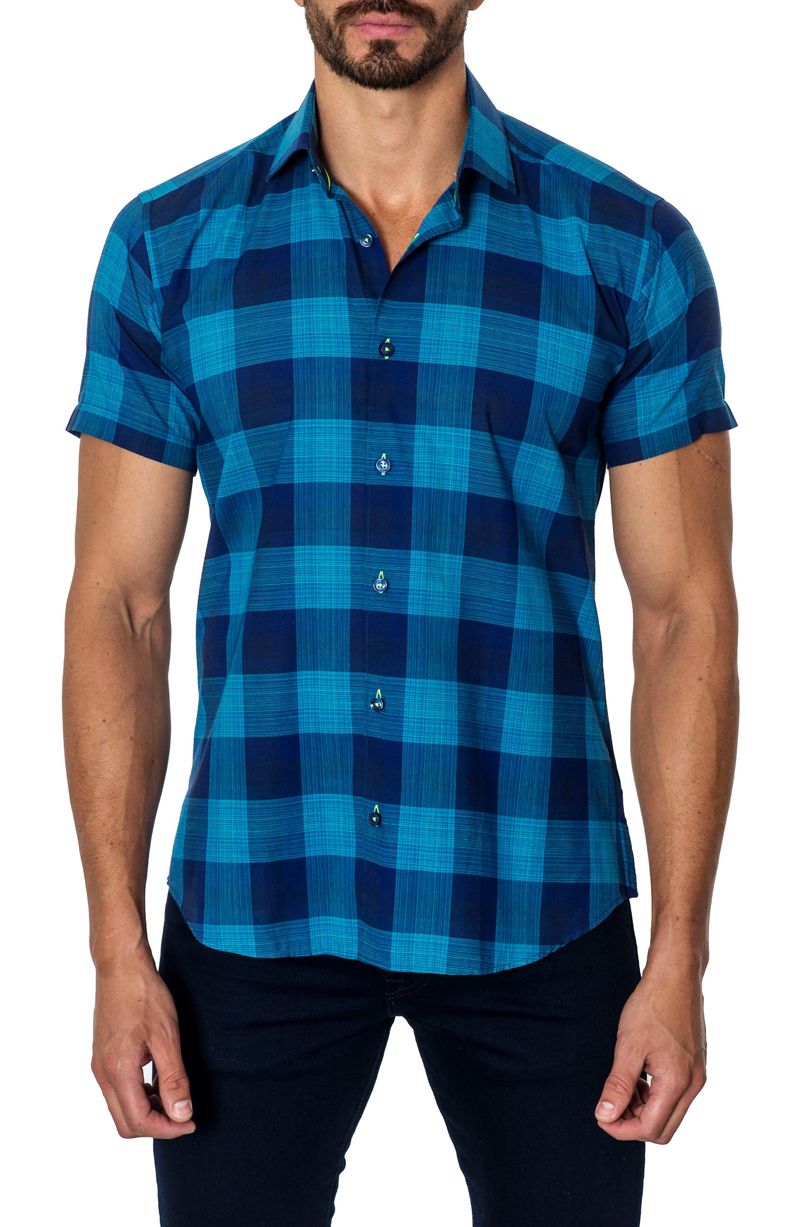 Jared Lang Trim Fit Check Sport Shirt