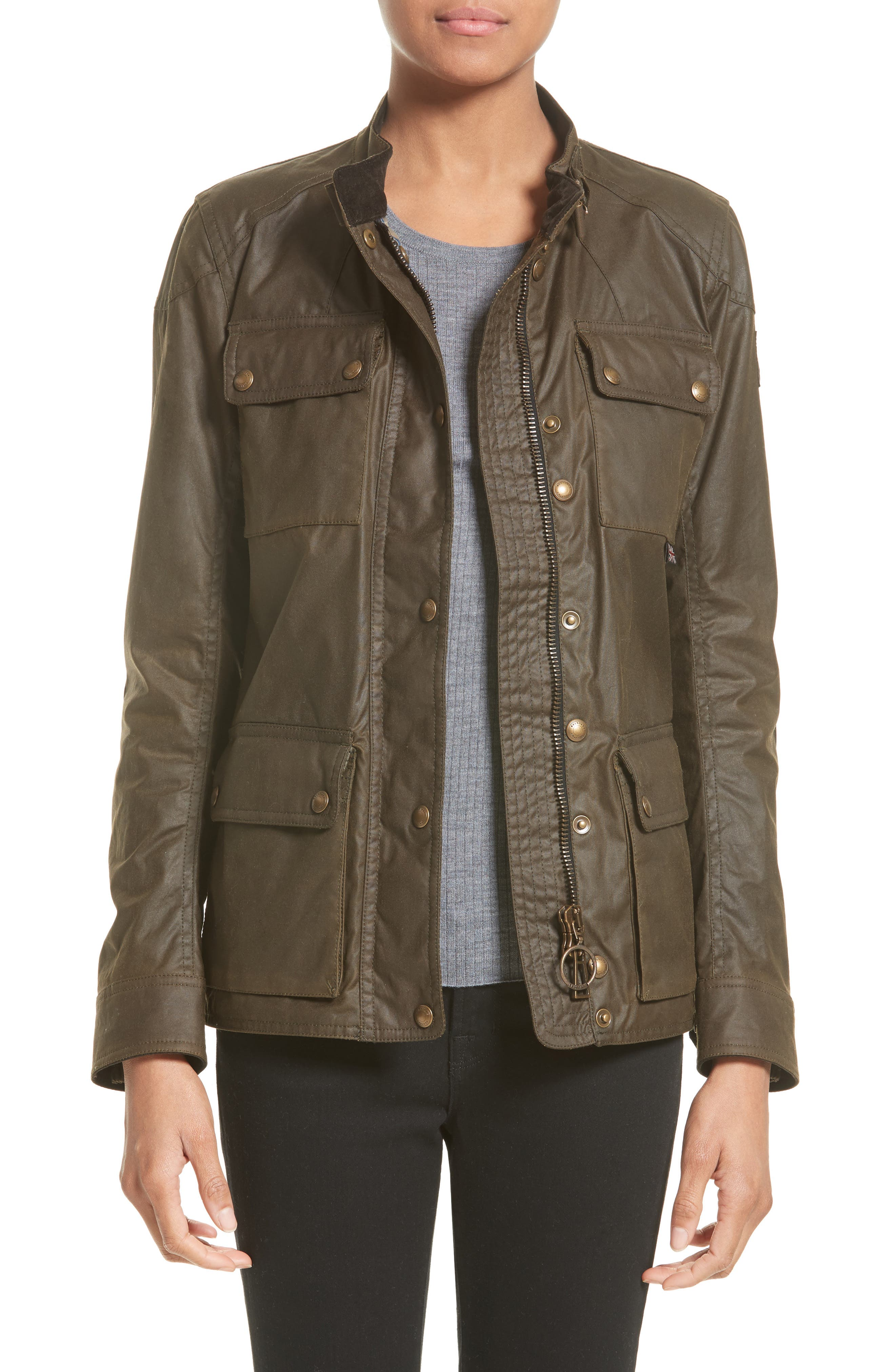 Belstaff 'Roadmaster' Waxed Cotton Coat