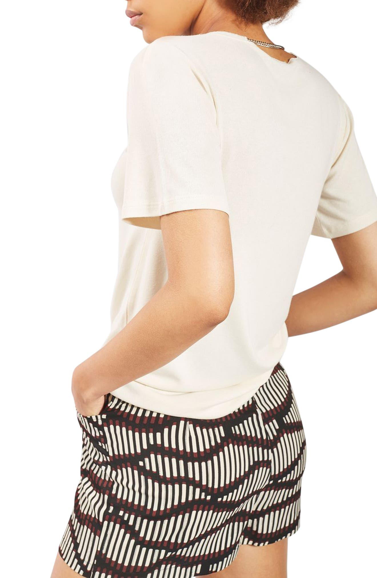 Alternate Image 3  - Topshop Matchstick Print Shorts