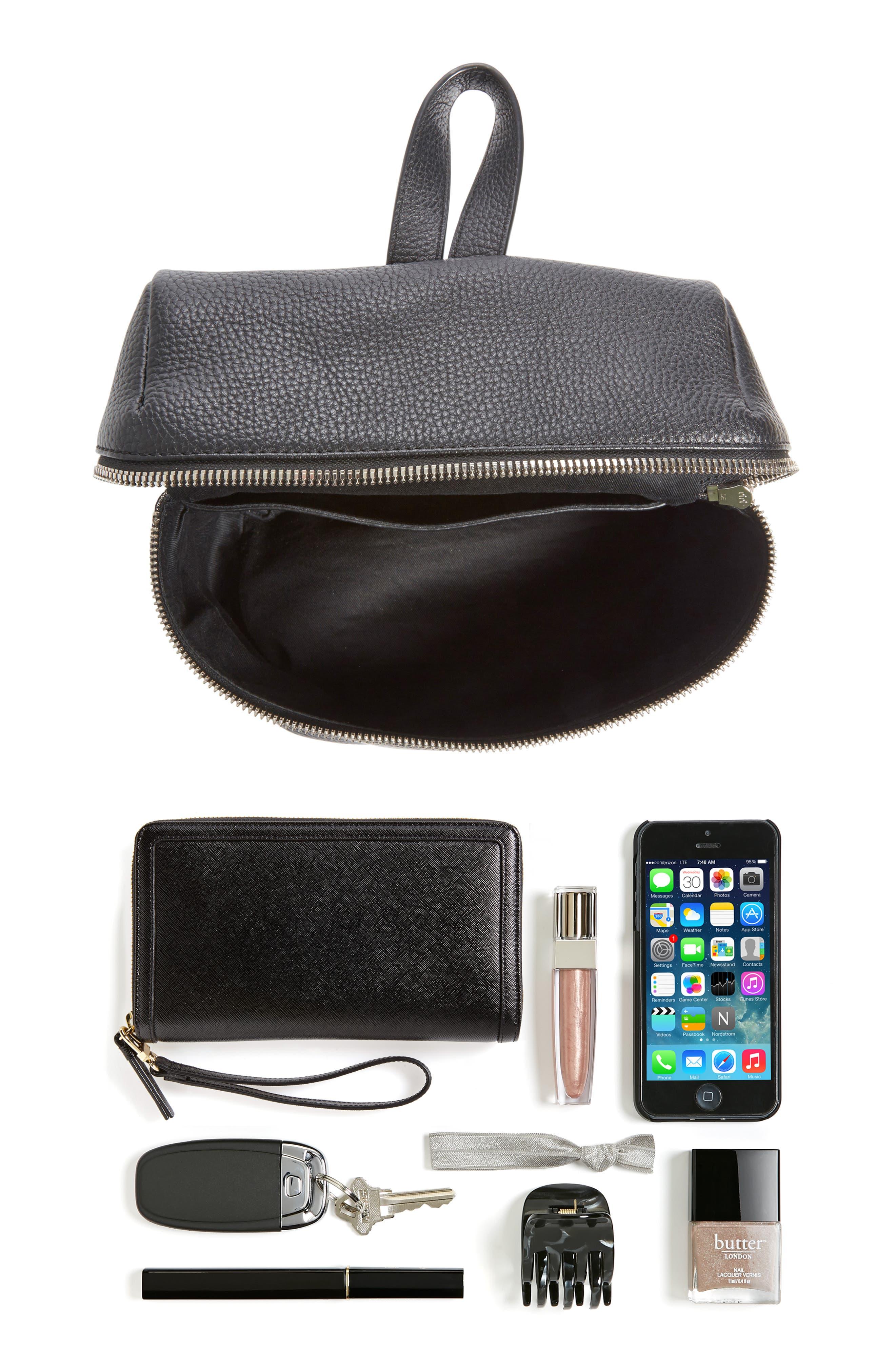 Alternate Image 4  - KARA Small Pebbled Leather Backpack
