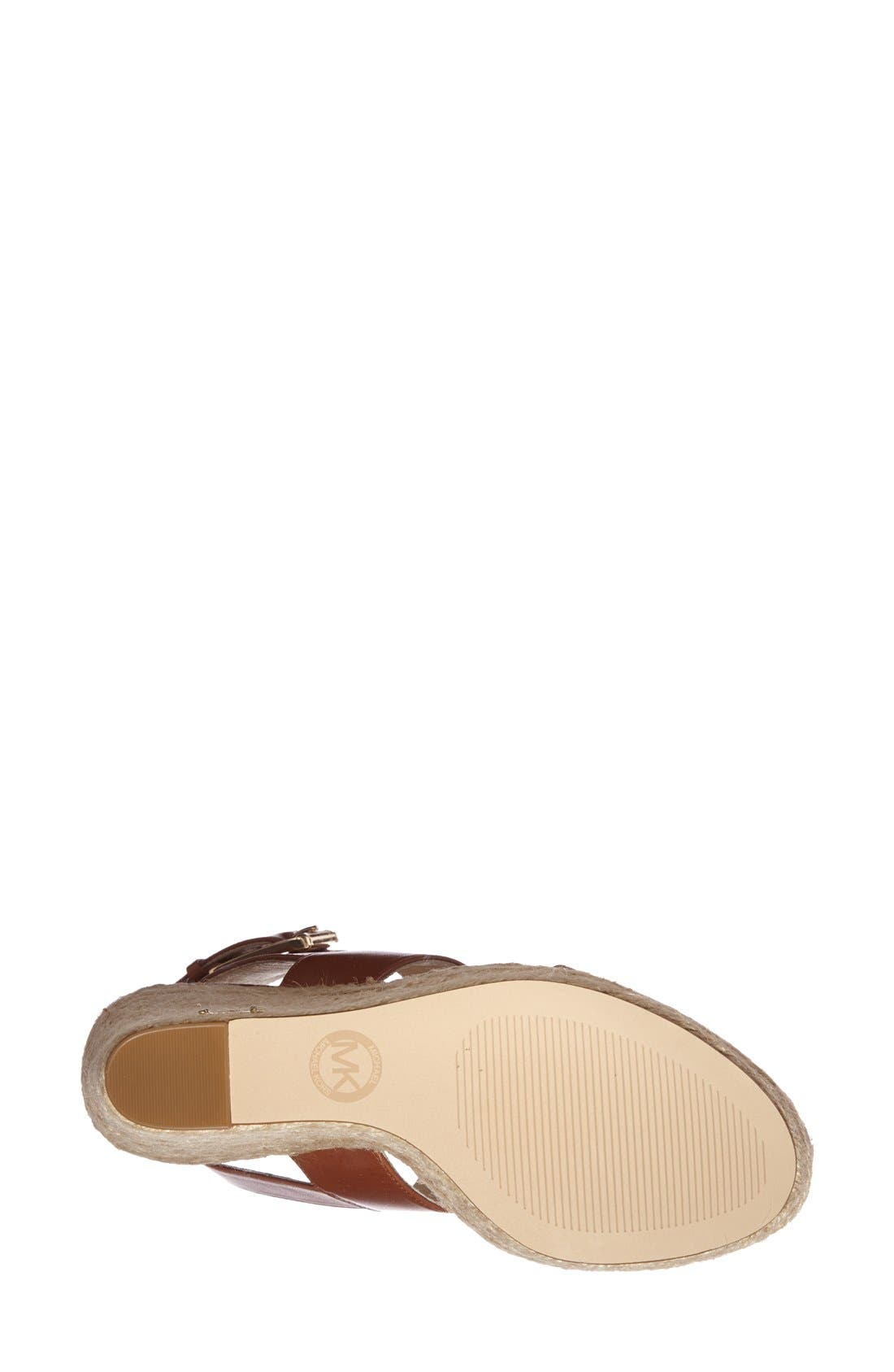 Alternate Image 4  - MICHAEL Michael Kors 'Posey' Ankle Strap Espadrille Wedge Sandal (Women)
