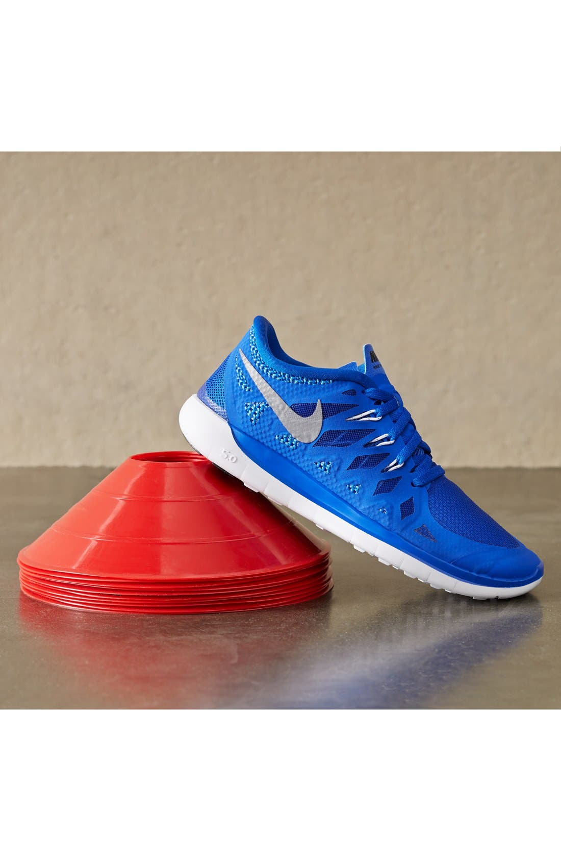 Alternate Image 5  - Nike 'Free 5.0' Running Shoe (Big Kids)