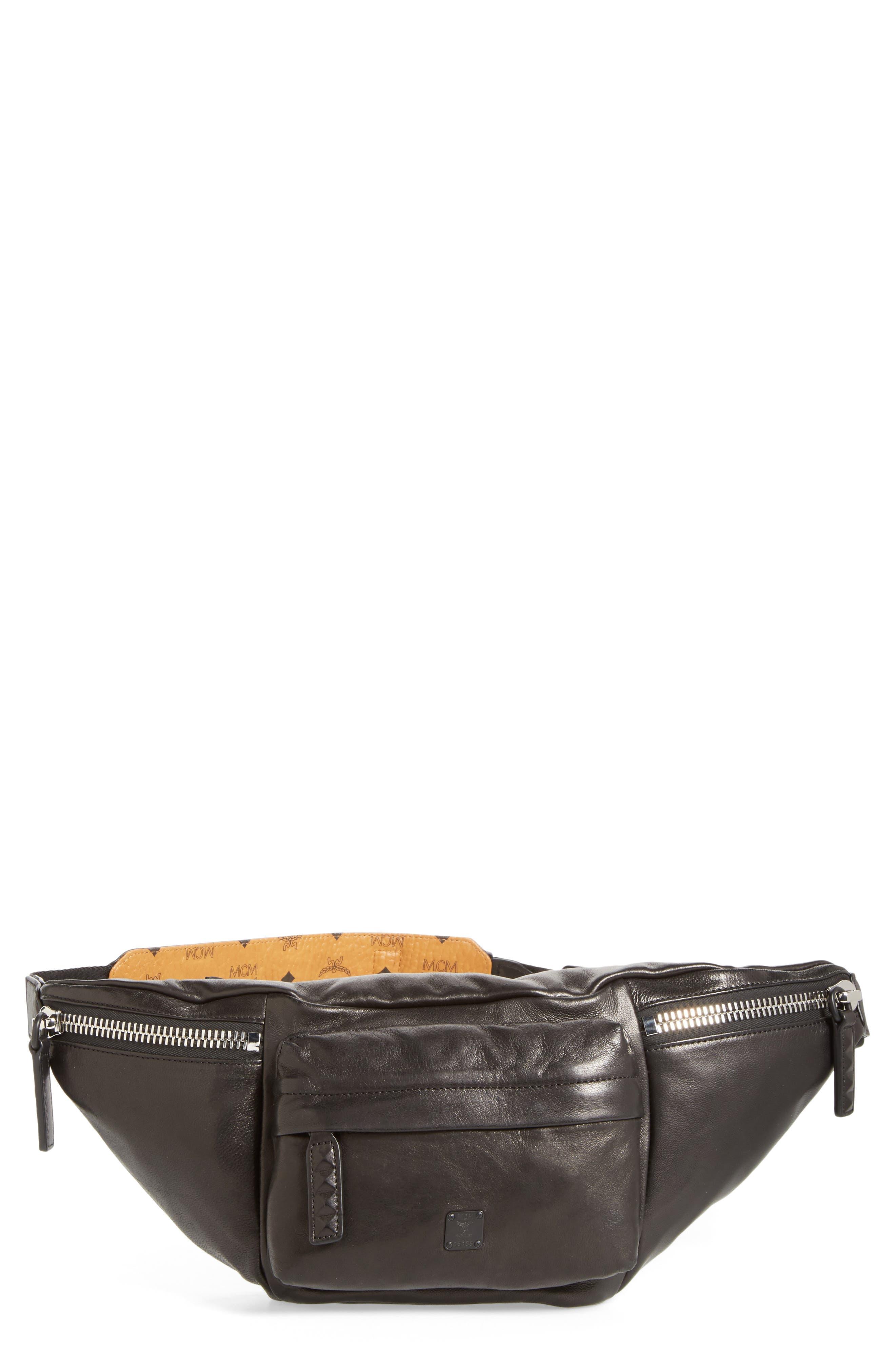 Alternate Image 1 Selected - MCM Leather Waist Bag