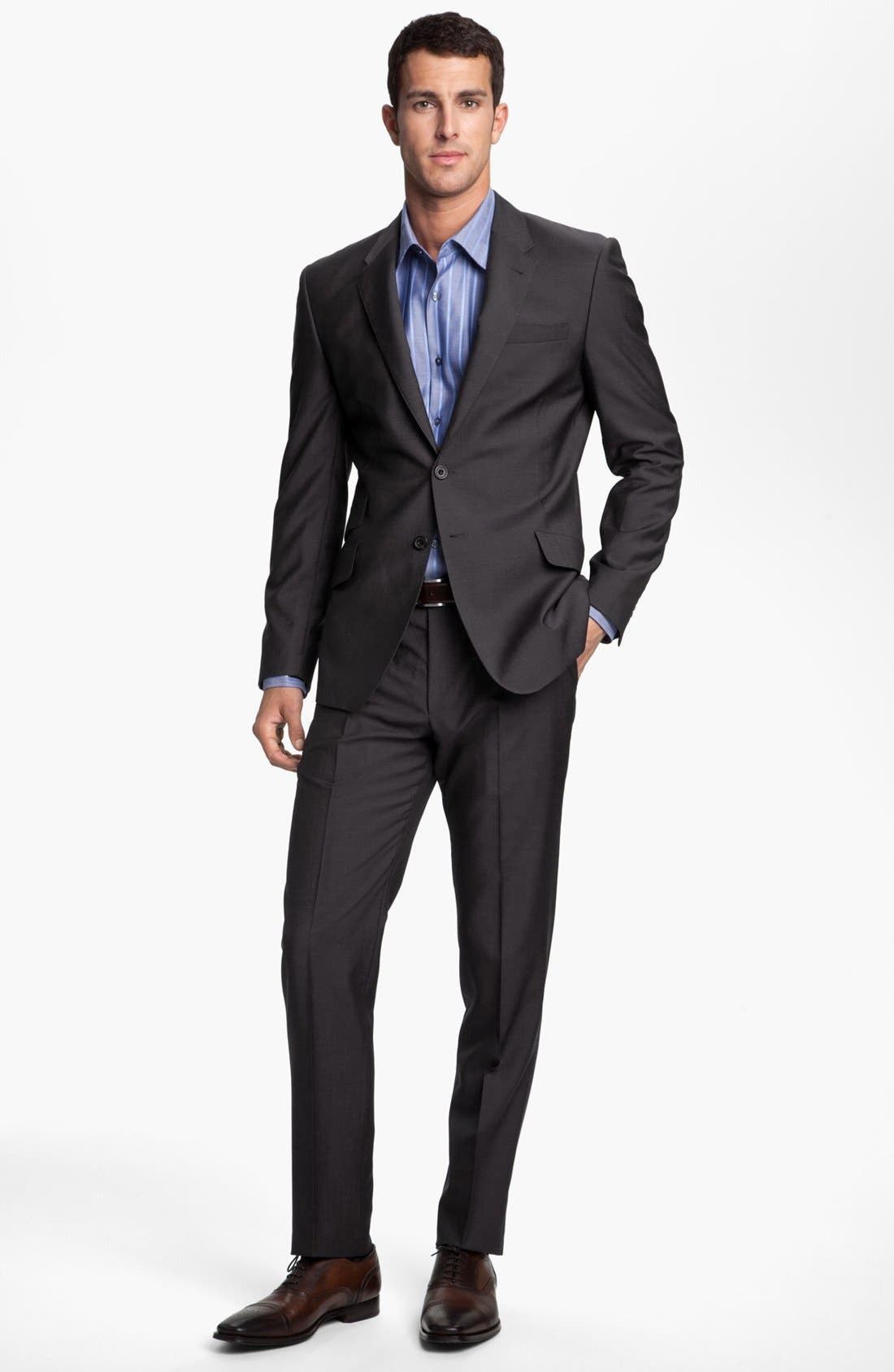 Main Image - Paul Smith London Wrinkle Free Stretch Wool Travel Suit