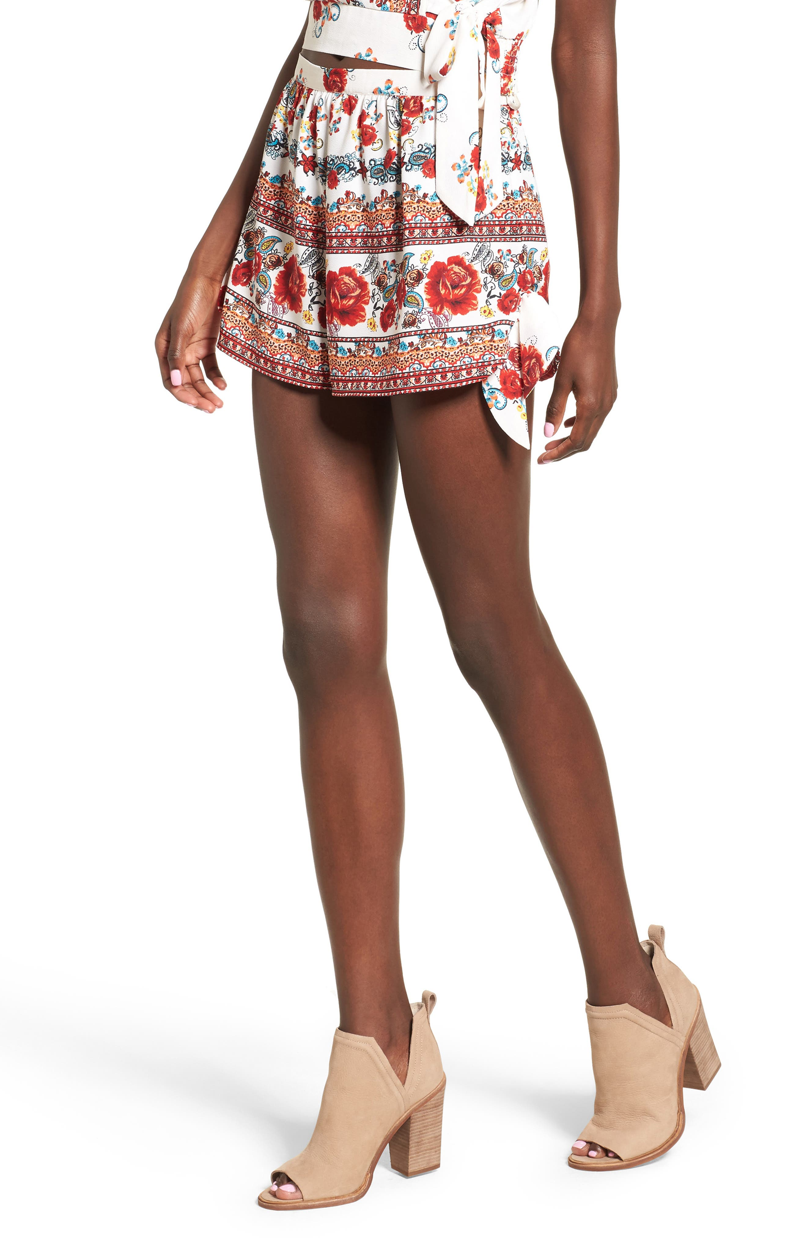 Band of Gypsies Rose Print Shorts