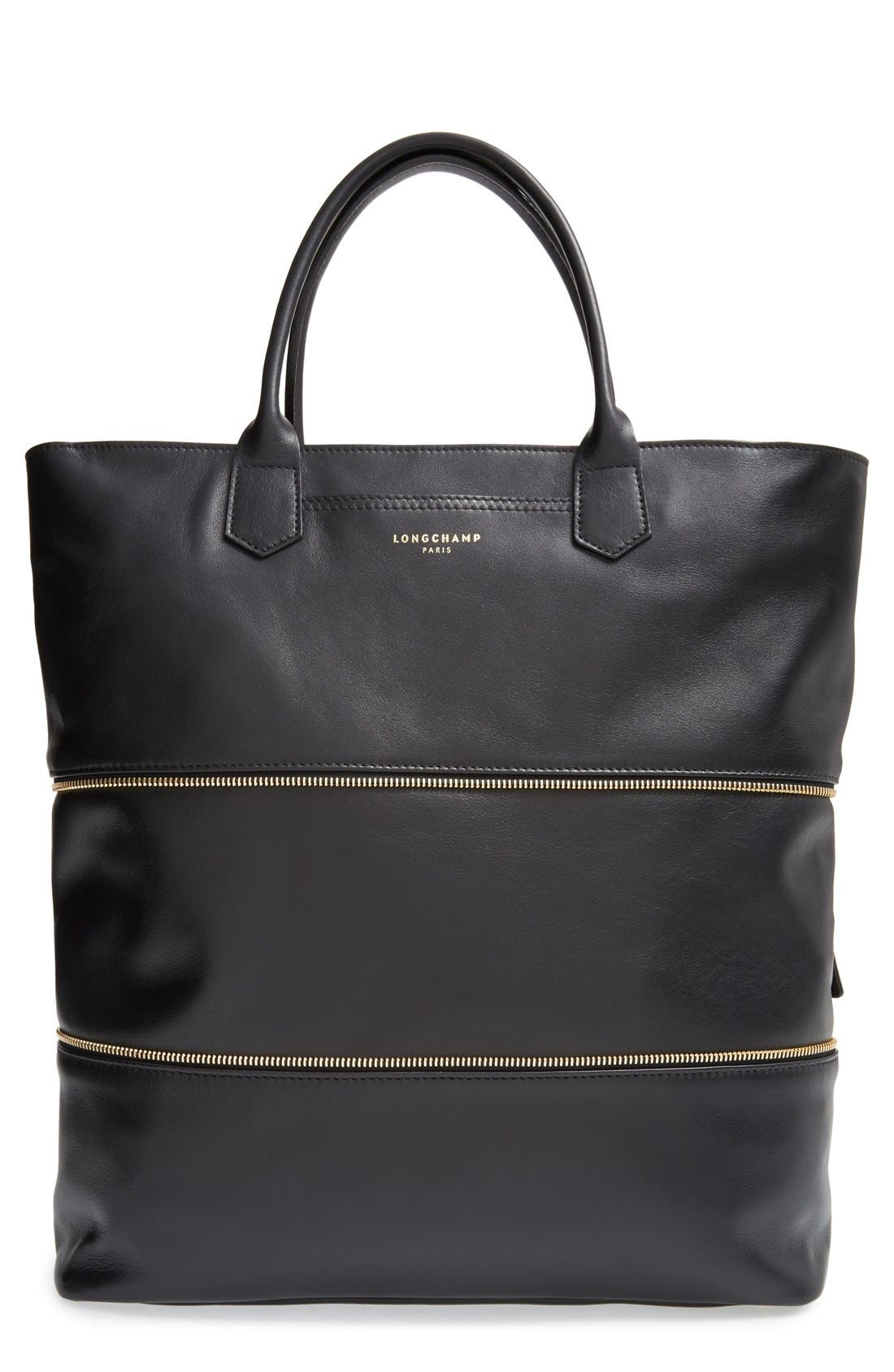 Main Image - Longchamp '2.0' Zip Gusset Leather Tote