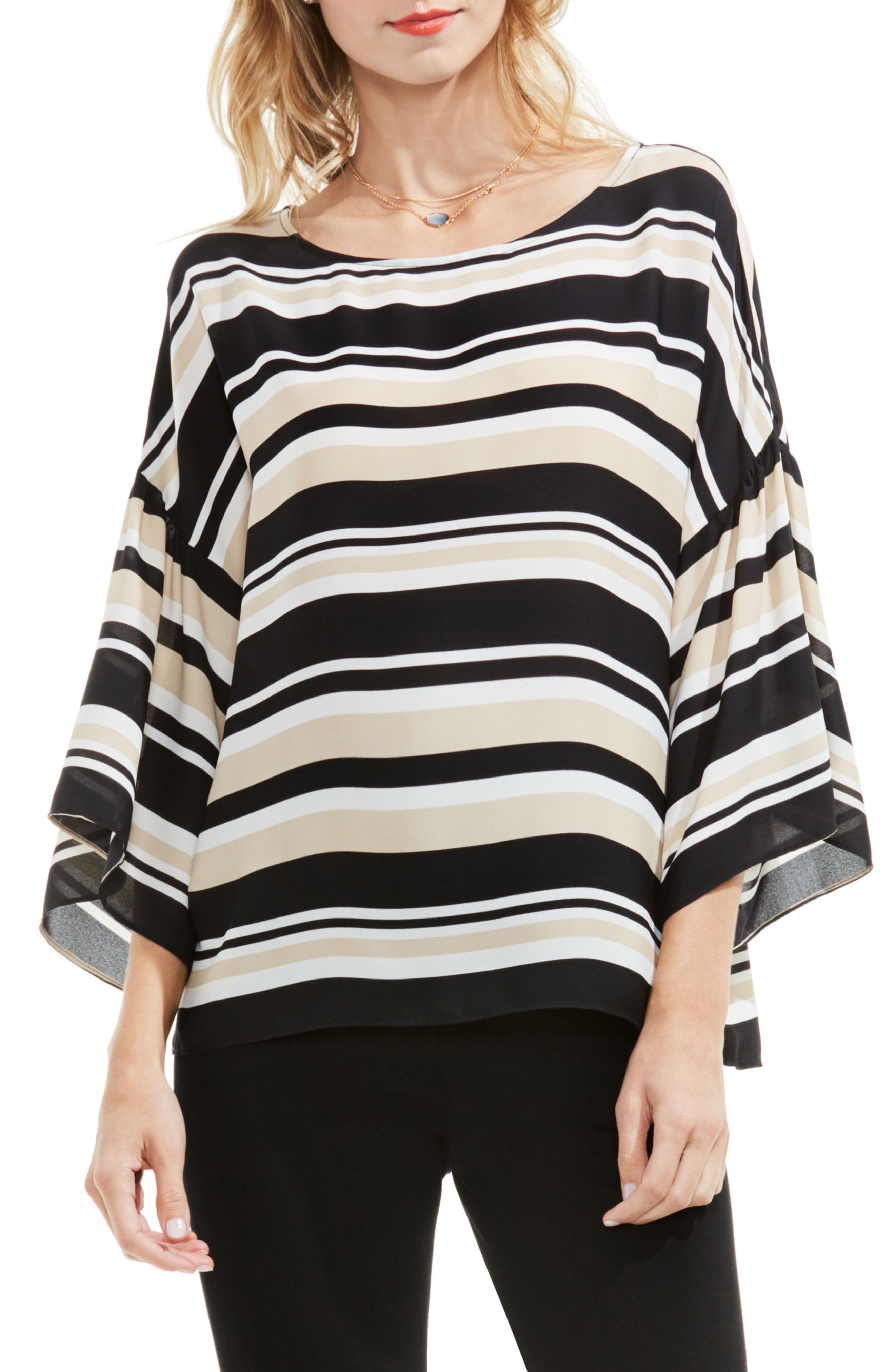 Vince Camuto Bell Sleeve Stripe Blouse