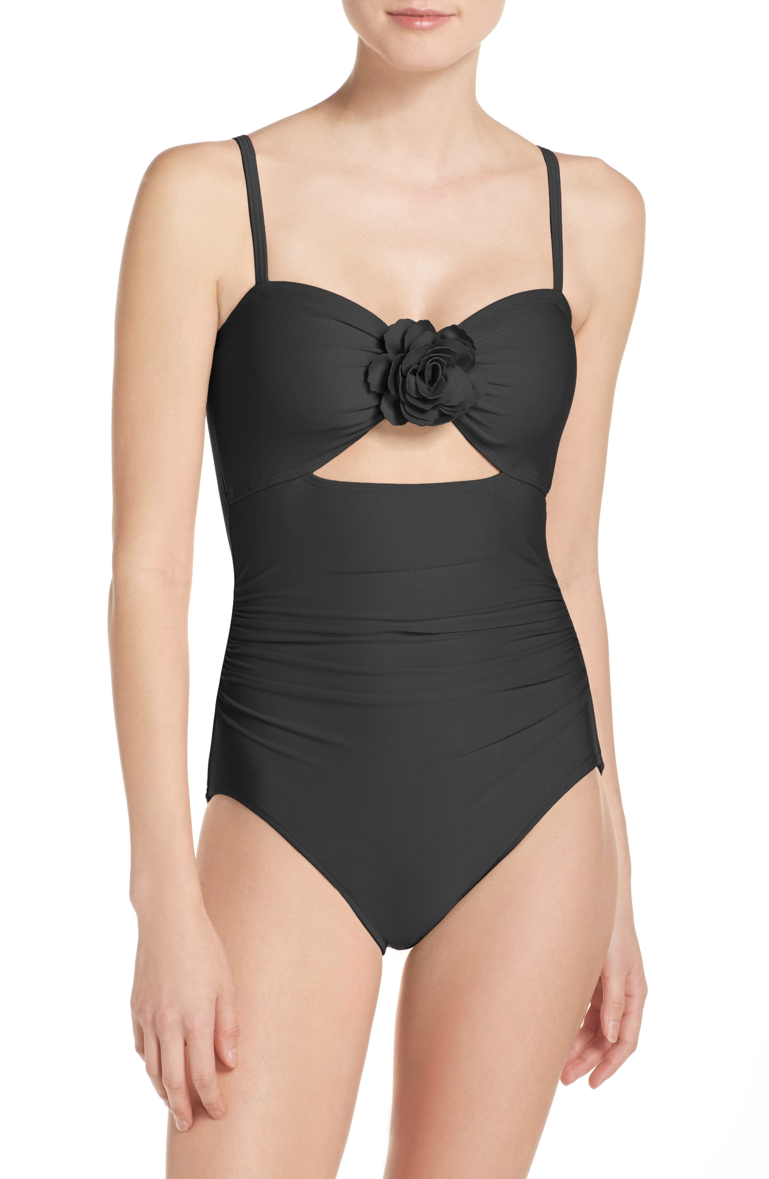 kate spade new york keyhole one-piece swimsuit