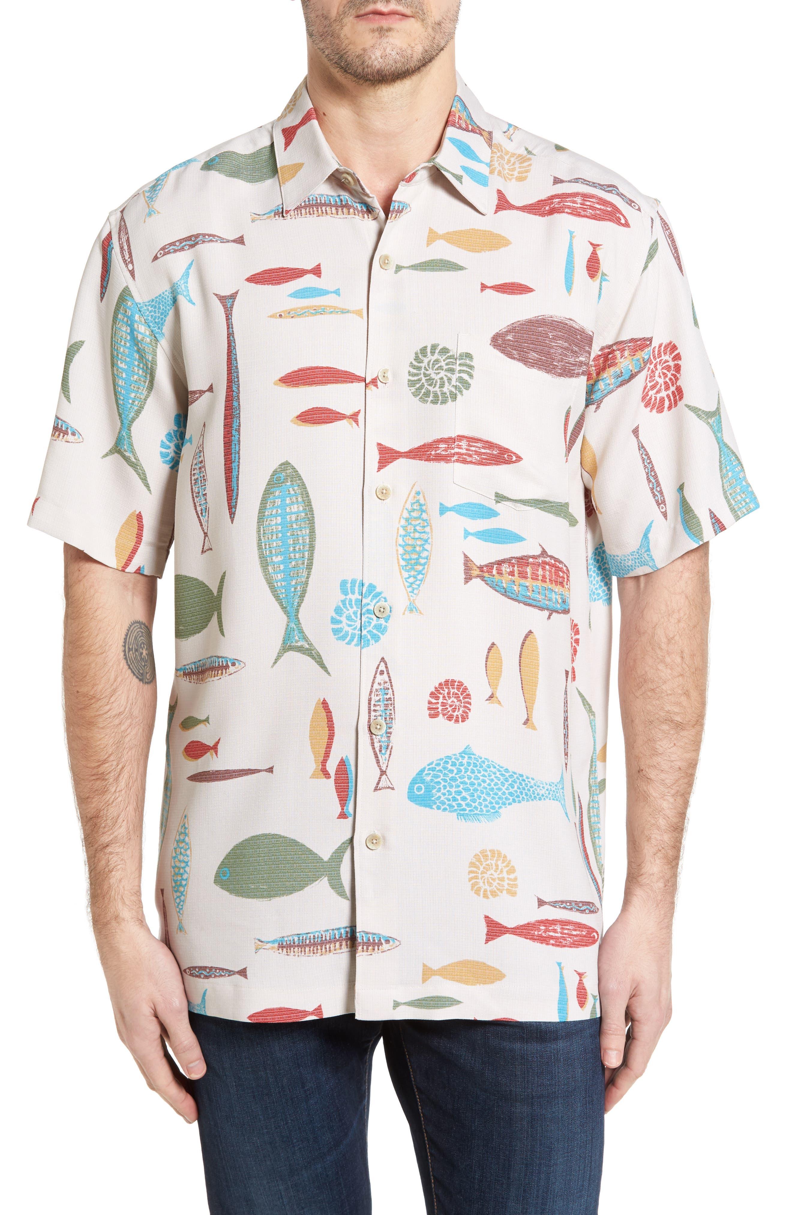 Kahala Fish Print Sport Shirt