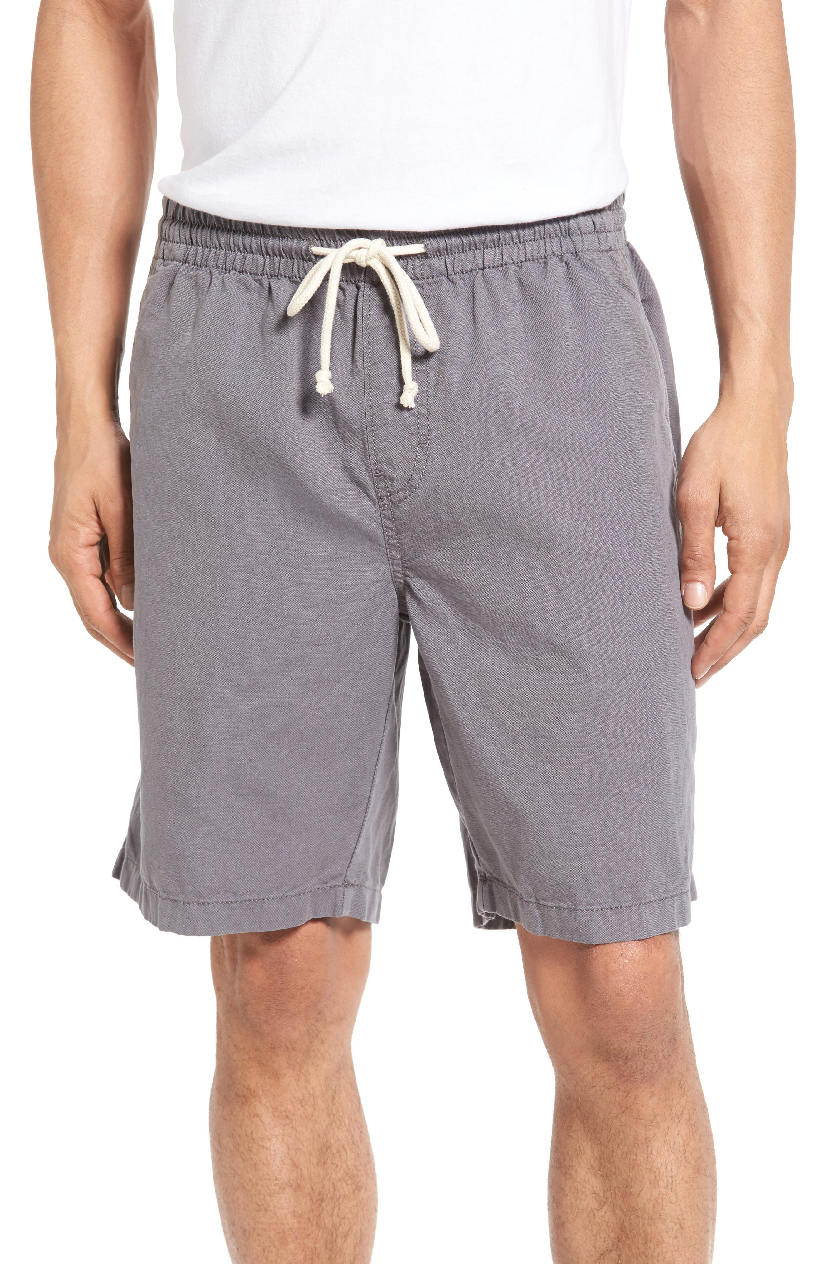 Nordstrom Men's Shop Cotton & Linen Blend Shorts