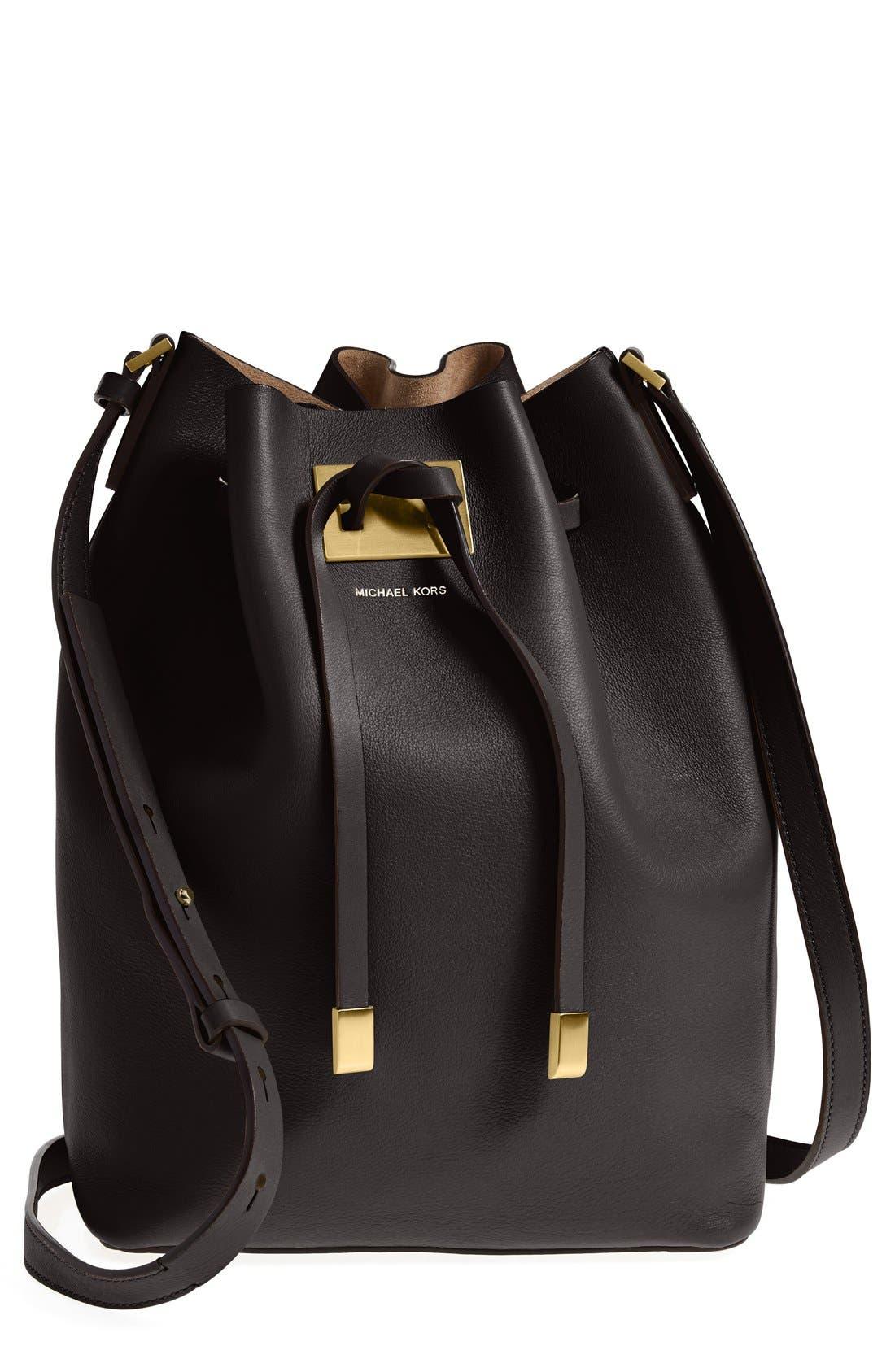 Main Image - Michael Kors 'Large Miranda' Leather Bucket Bag