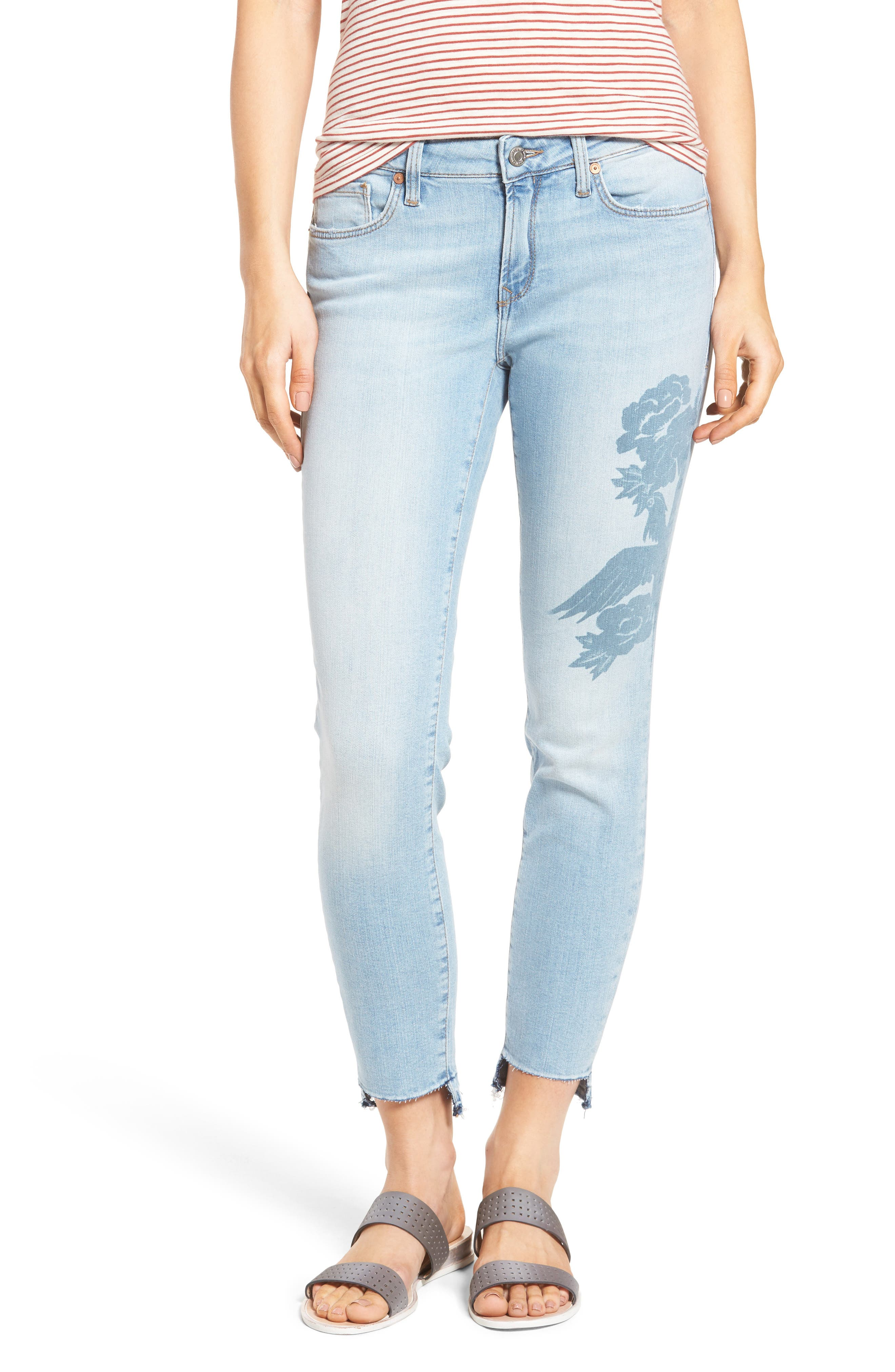 Mavi Jeans Adriana Ankle Skinny Jeans (Colored Laser Icon)