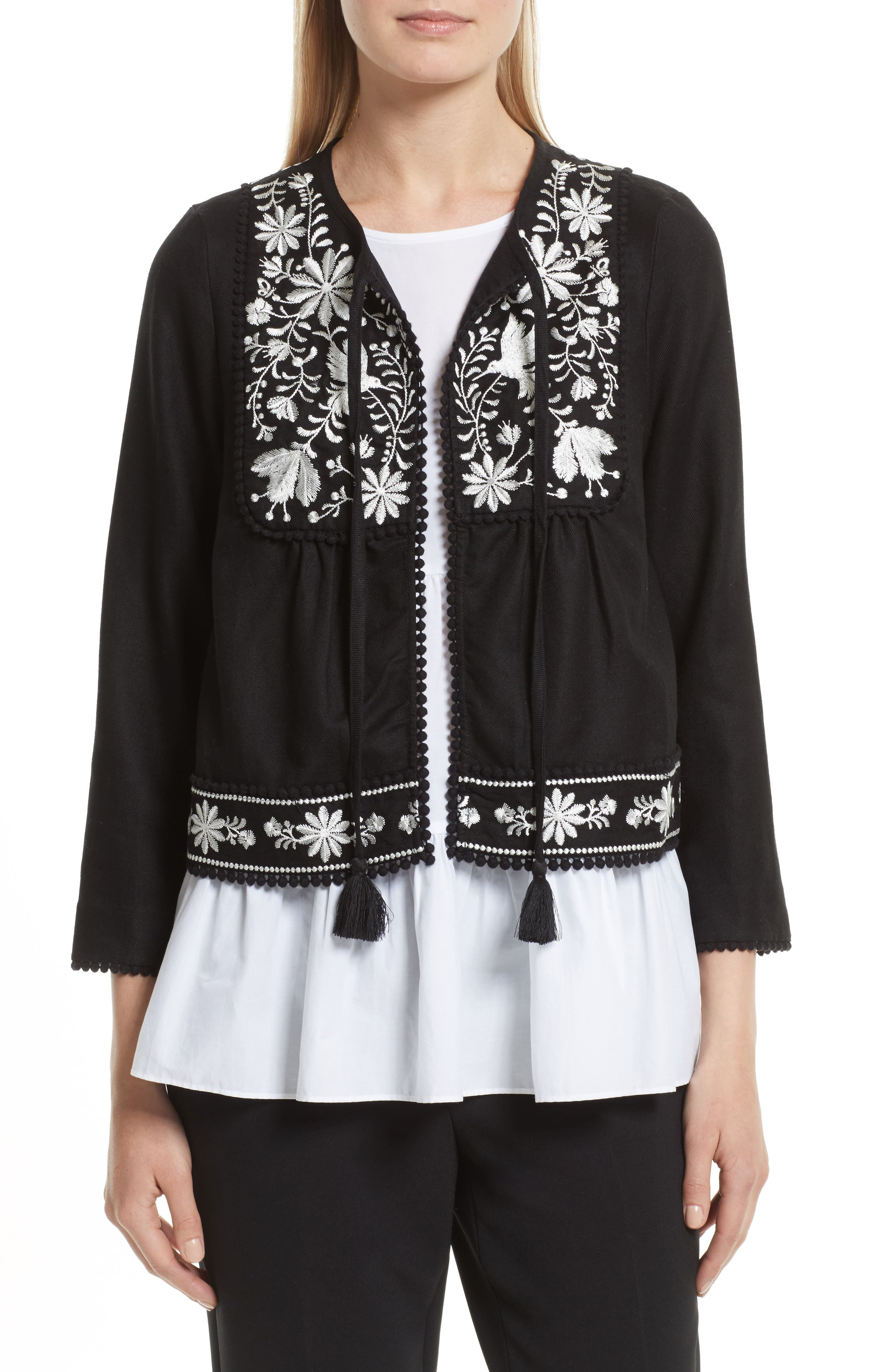 kate spade new york embroidered jacket