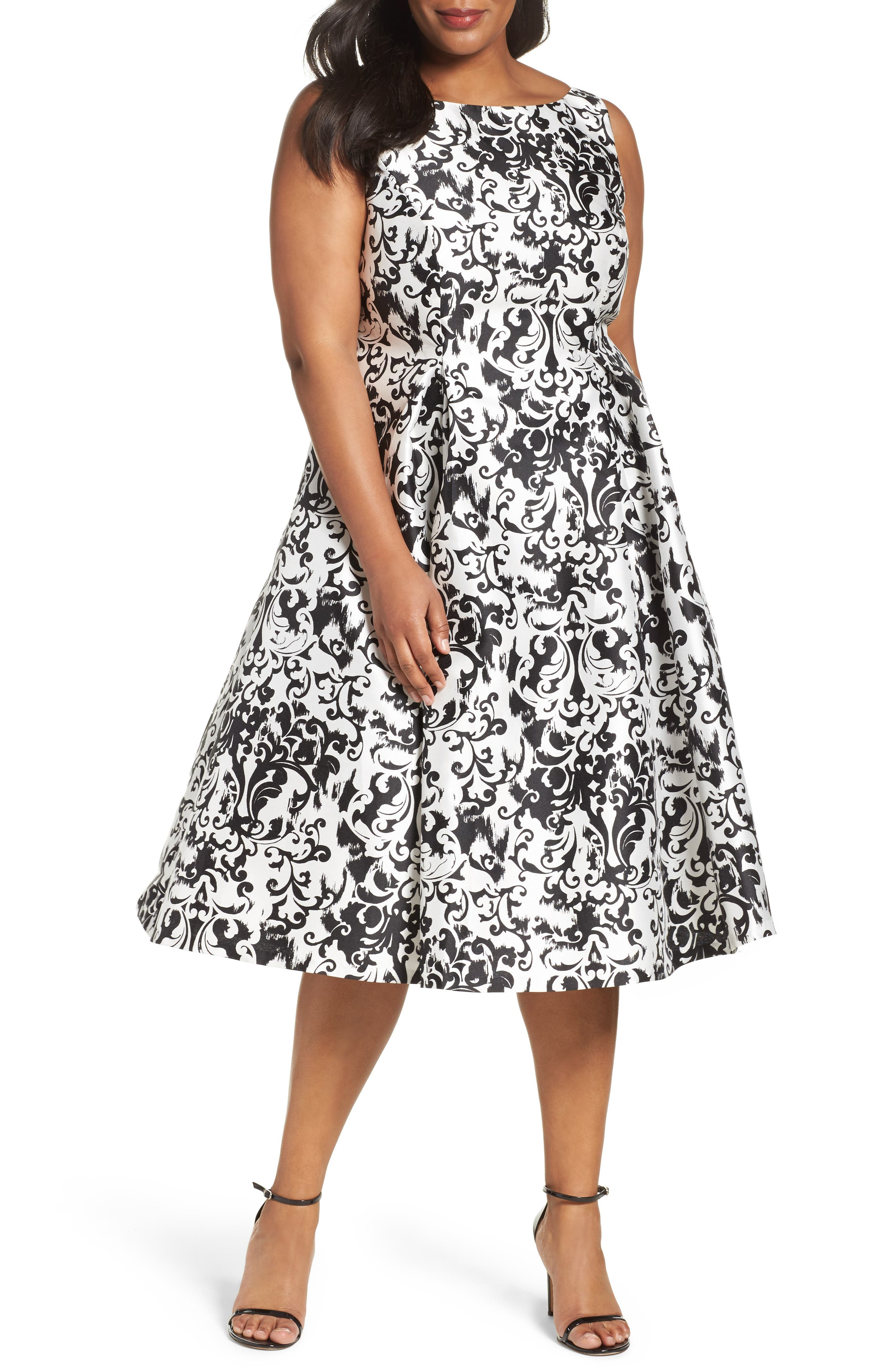 Adrianna Papell Fit & Flare Dress (Plus Size)