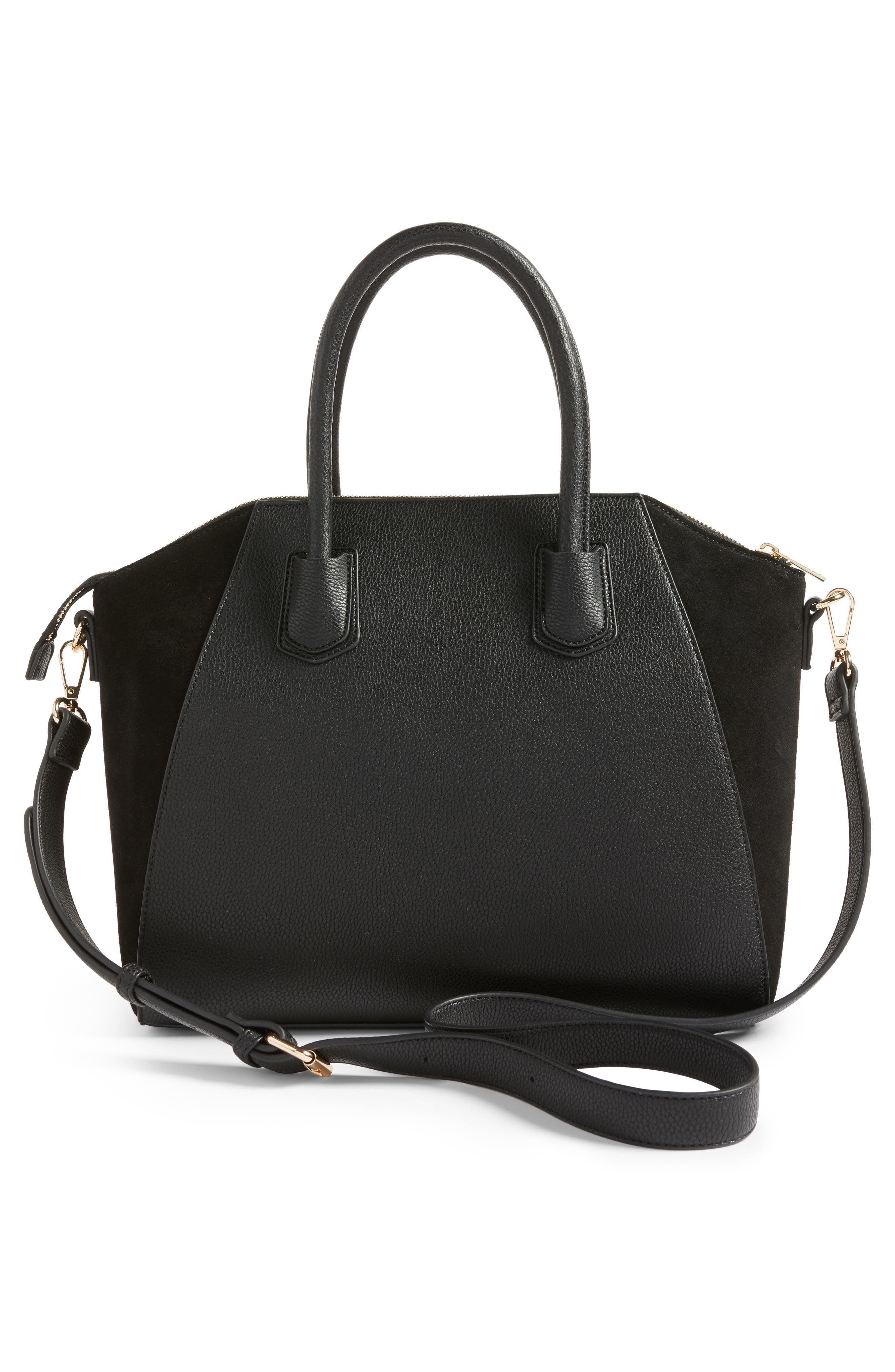 Alternate Image 3  - Sole Society Mikayla Faux Leather & Suede Satchel