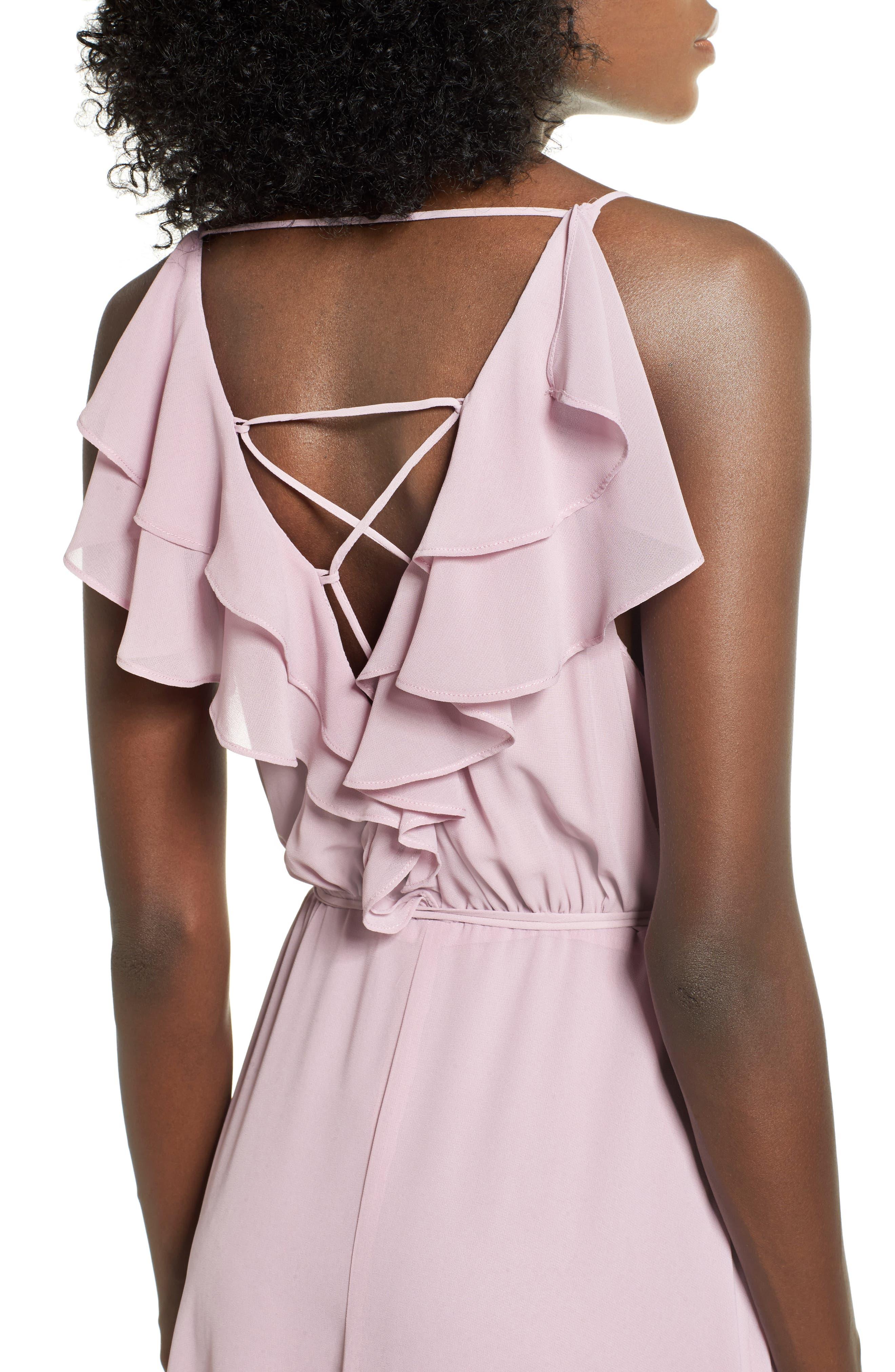 Alternate Image 4  - Wayf Ruffle Maxi Dress