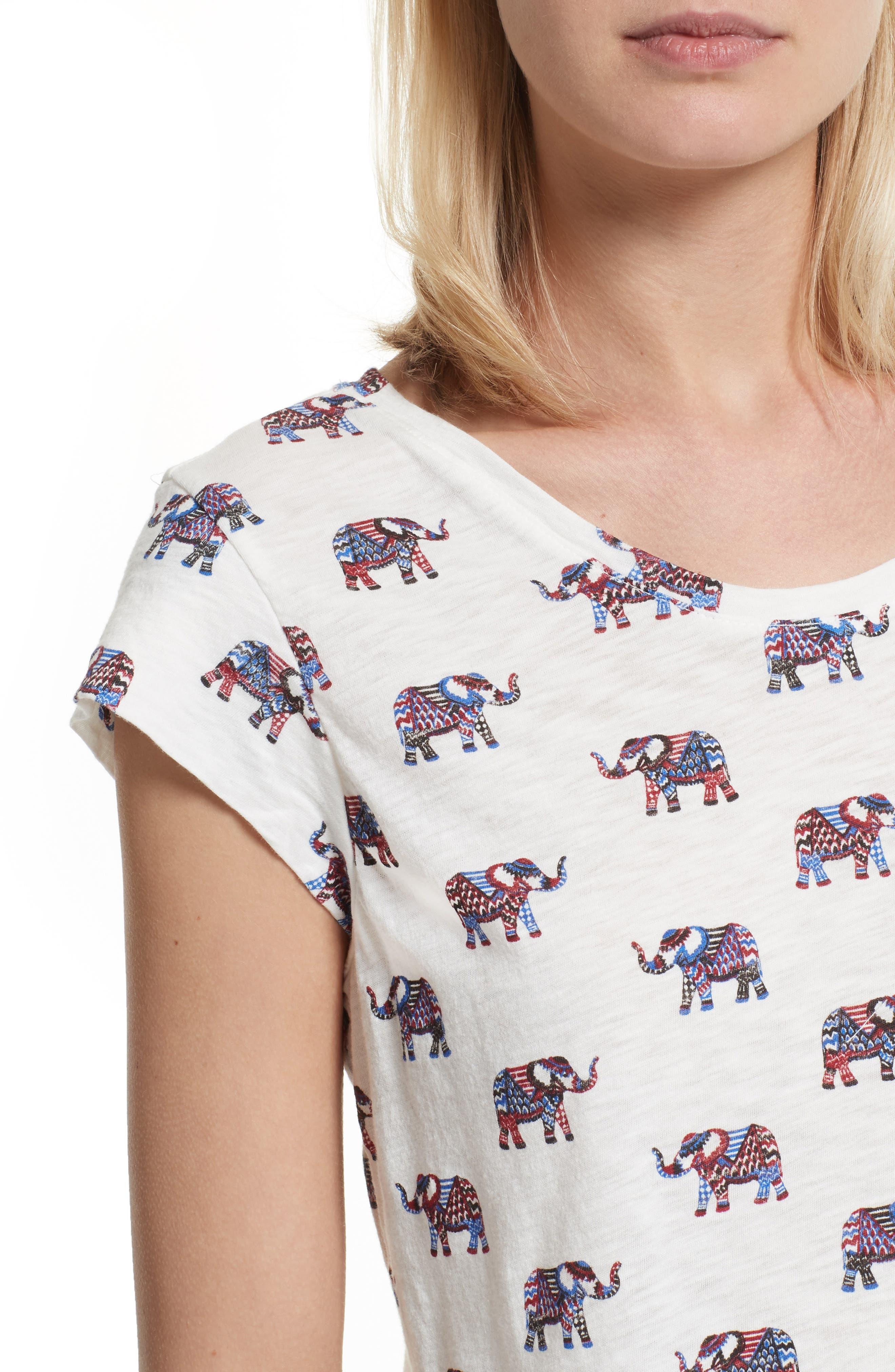 Alternate Image 4  - Soft Joie Dillon Elephant Print Tee