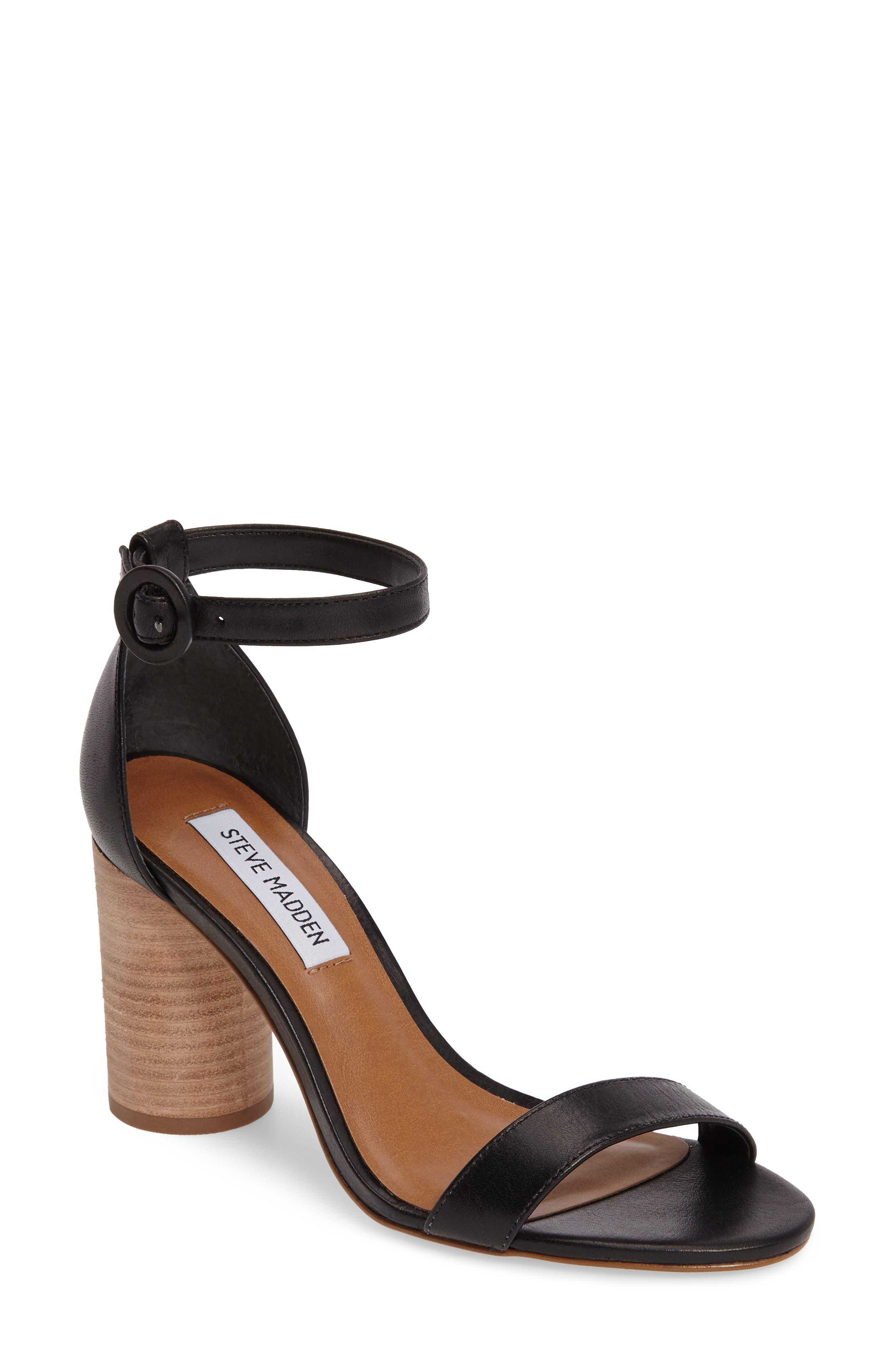 Alternate Image 1 Selected - Steve Madden Sara Column Heel Sandal (Women)