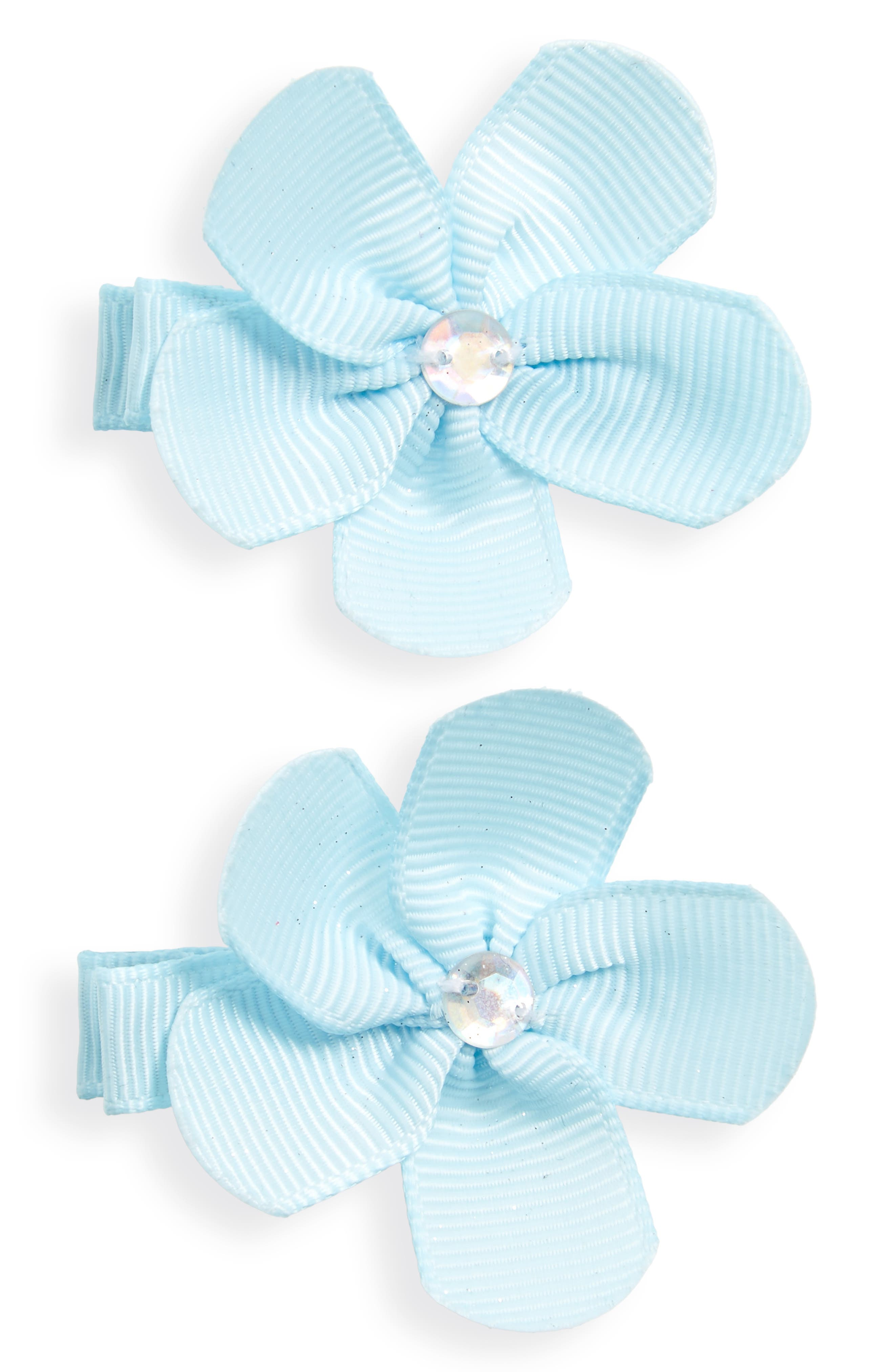 PLH Bows & Laces Flower Clips (Set of 2) (Baby Girls & Toddler Girls)