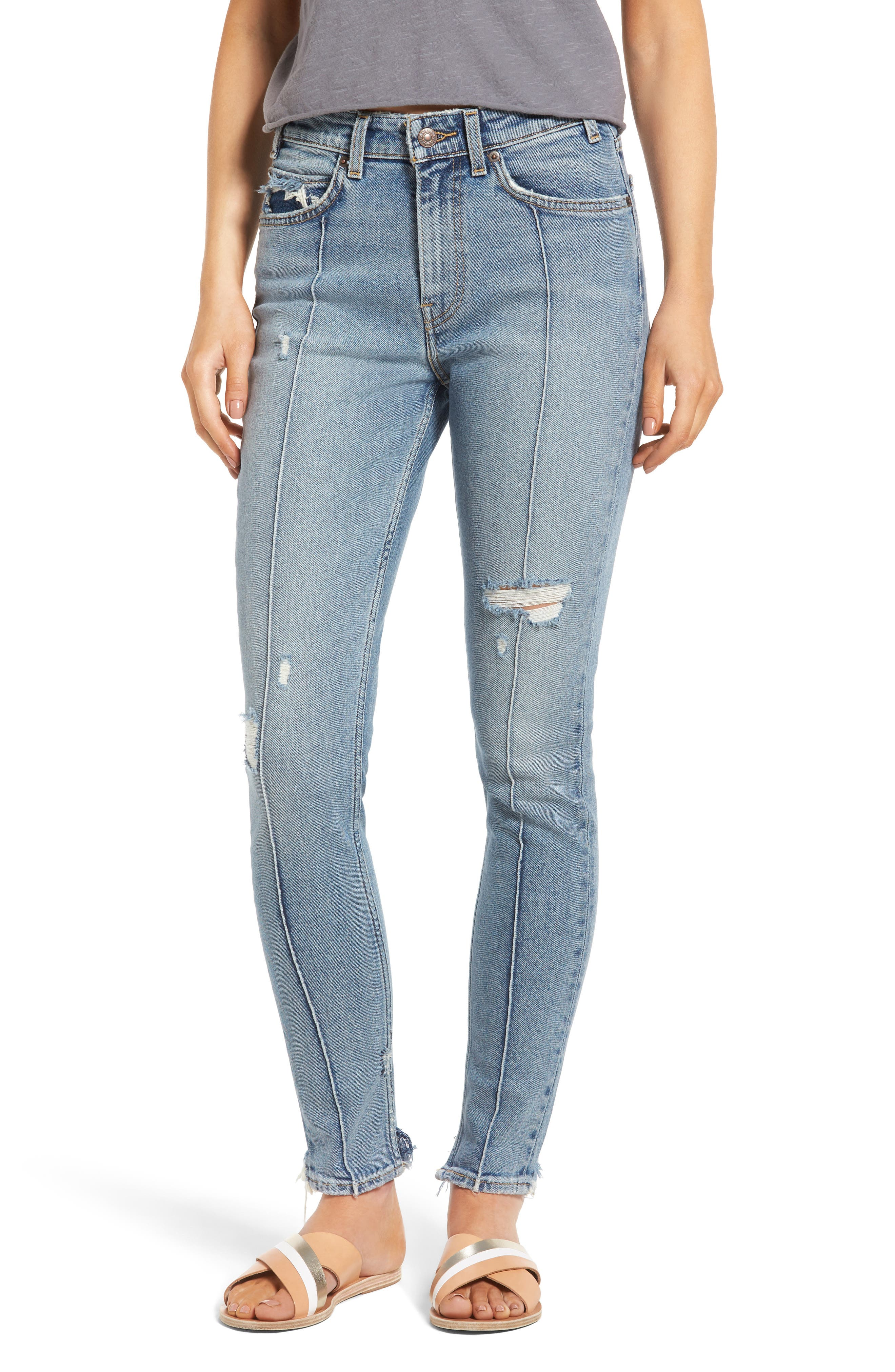 Levi's® 721 High Waist Skinny Jeans (Blue Chaos)