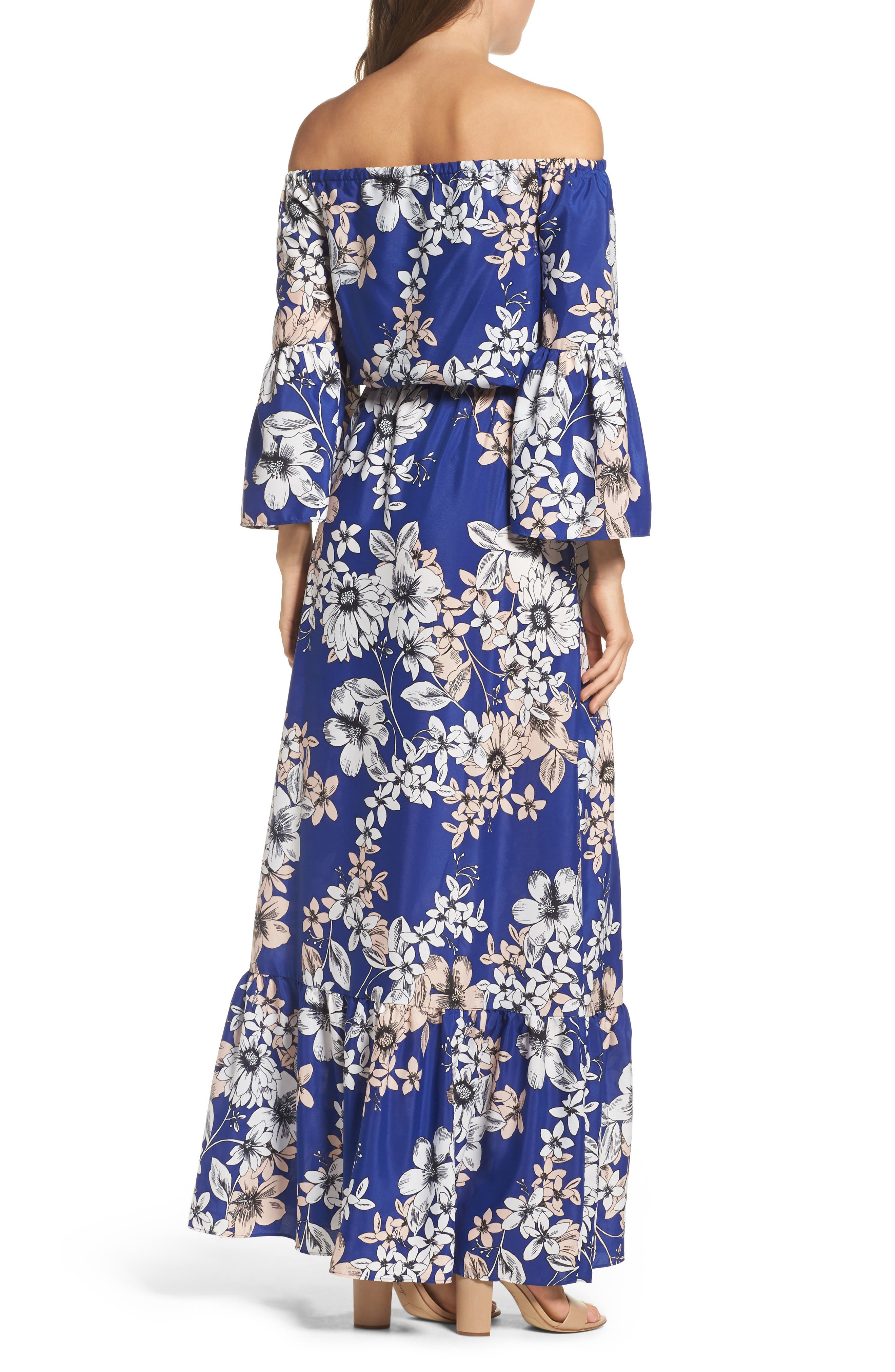 Alternate Image 2  - Eliza J Off the Shoulder Floral Maxi Dress